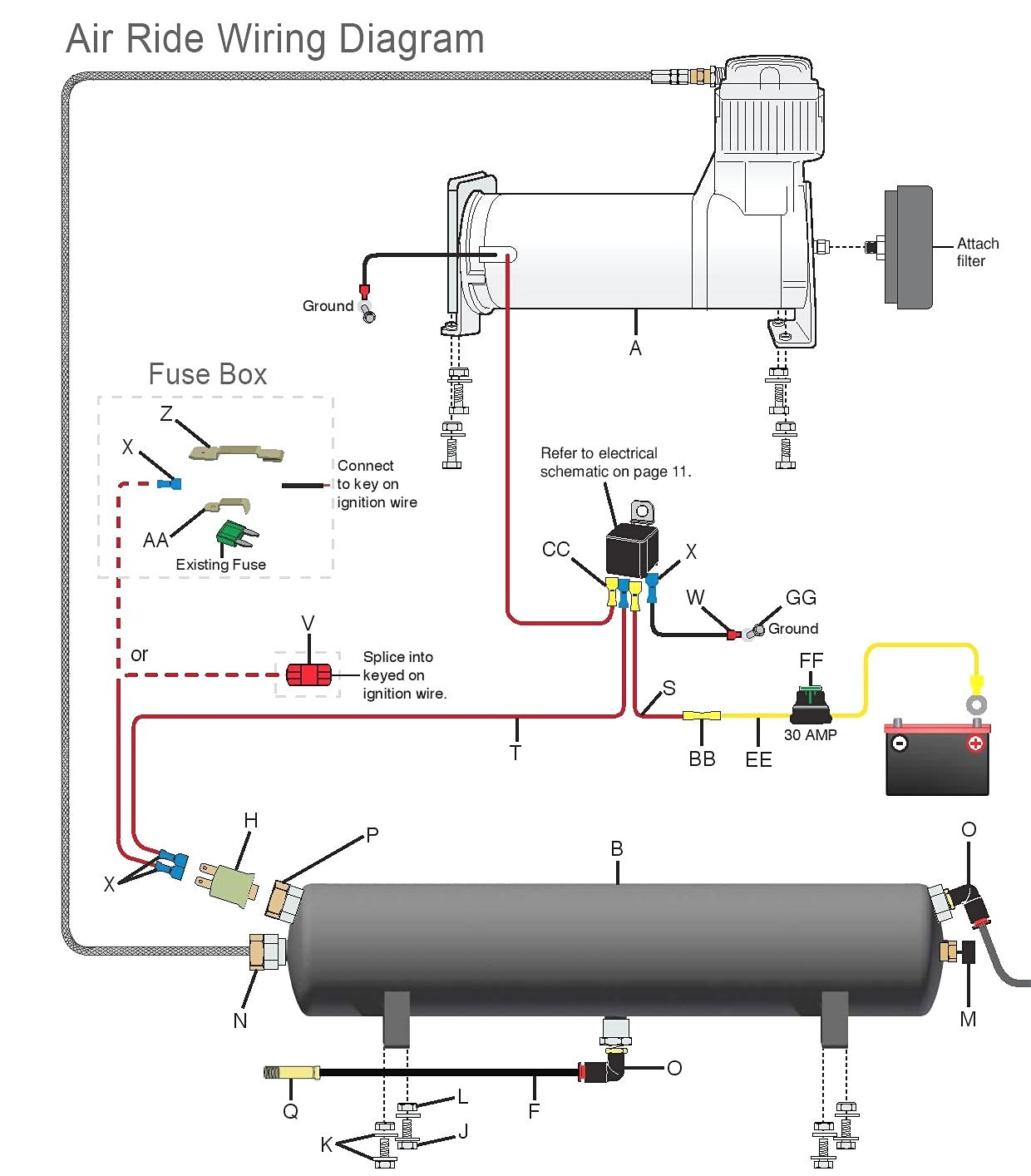 Gmc Air Ride Wiring Diagram Diagrams Schematics Inside Suspension