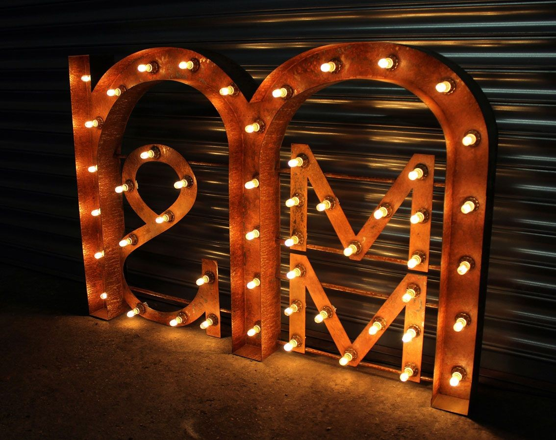 Rust effect vintage marquee fairground letters signage signs vintage retro marquee fairground rust