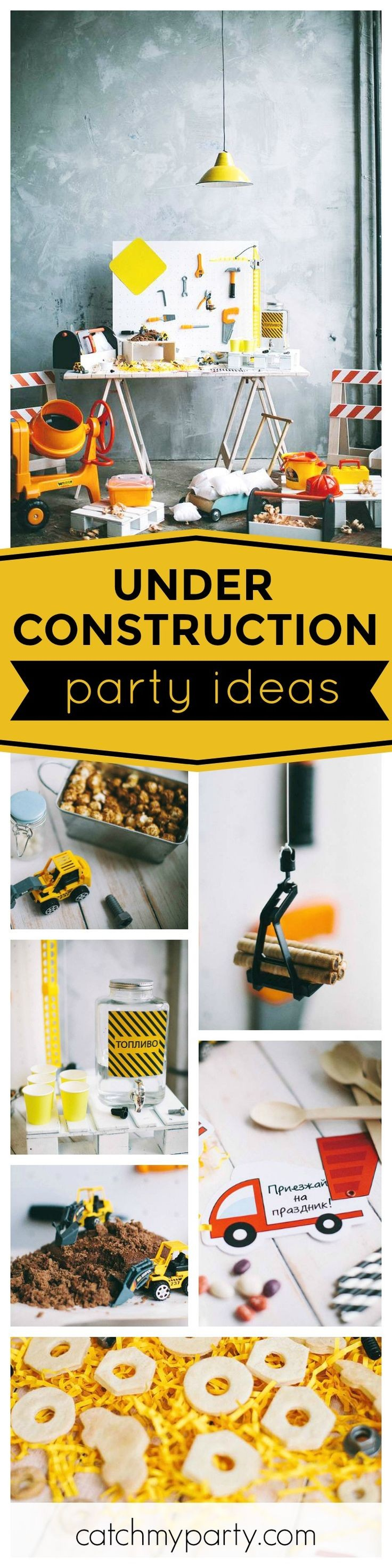 Don t miss this minimalist Under Construction birthday party The construction site birthday cake