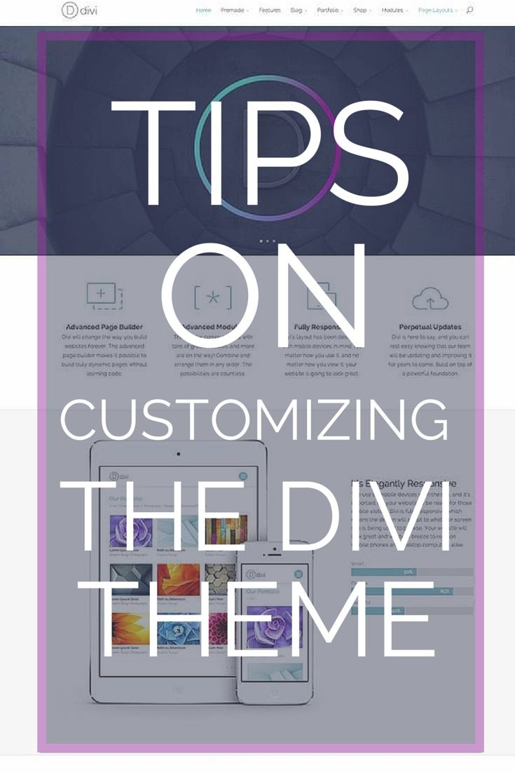 TIPS on using the divi theme Eileen Lonergan