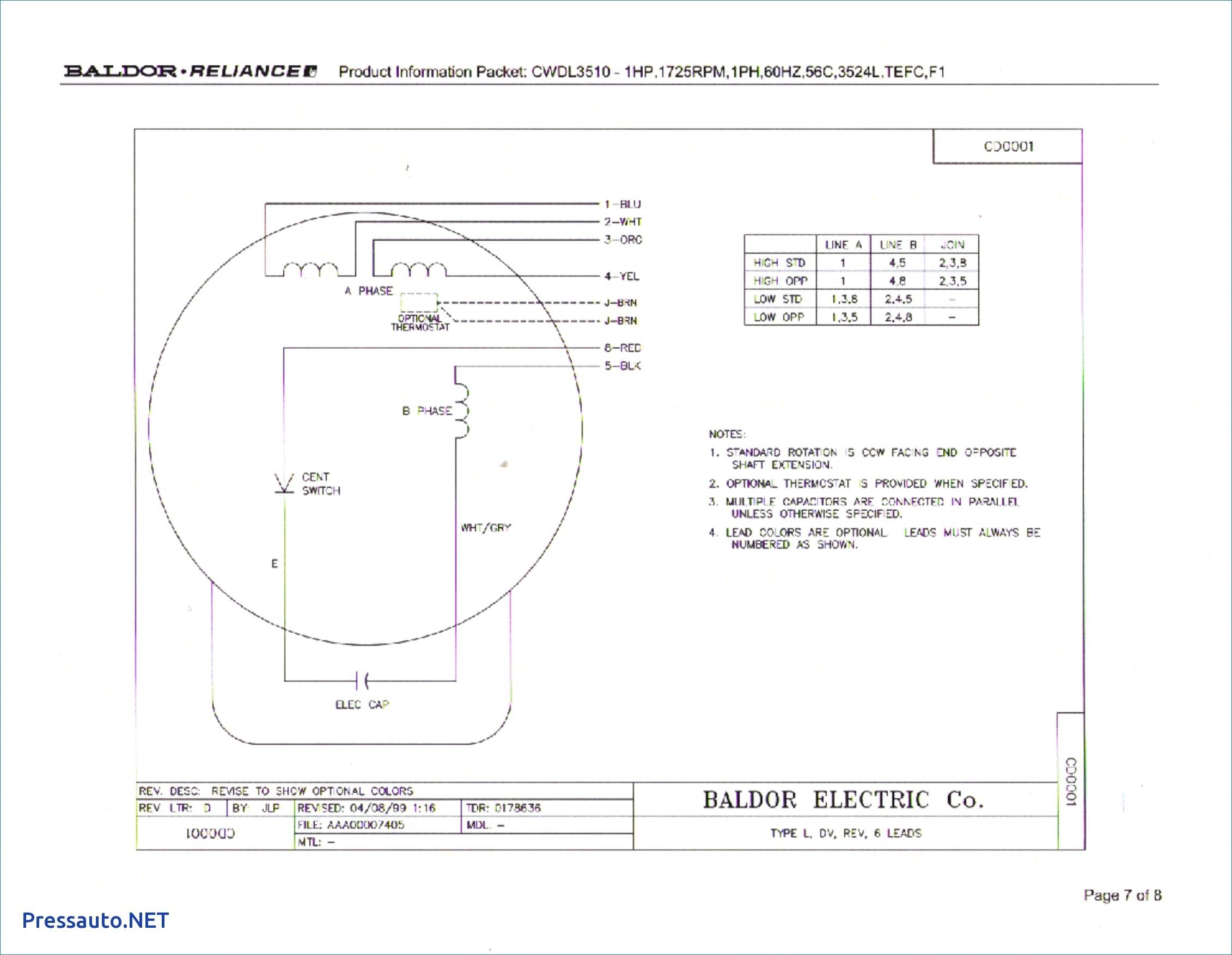 Awesome Baldor Motor Wiring Diagrams Single Phase Diagram Incredible