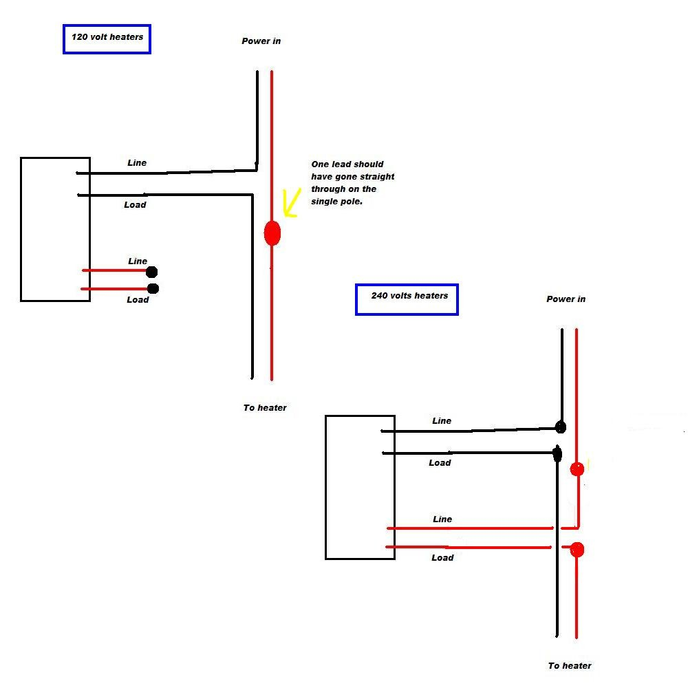 Wiring A Baseboard Heater Thermostat Electrical Diagram Electric Heat 220 Outlet Block And Schematic 4 Wire