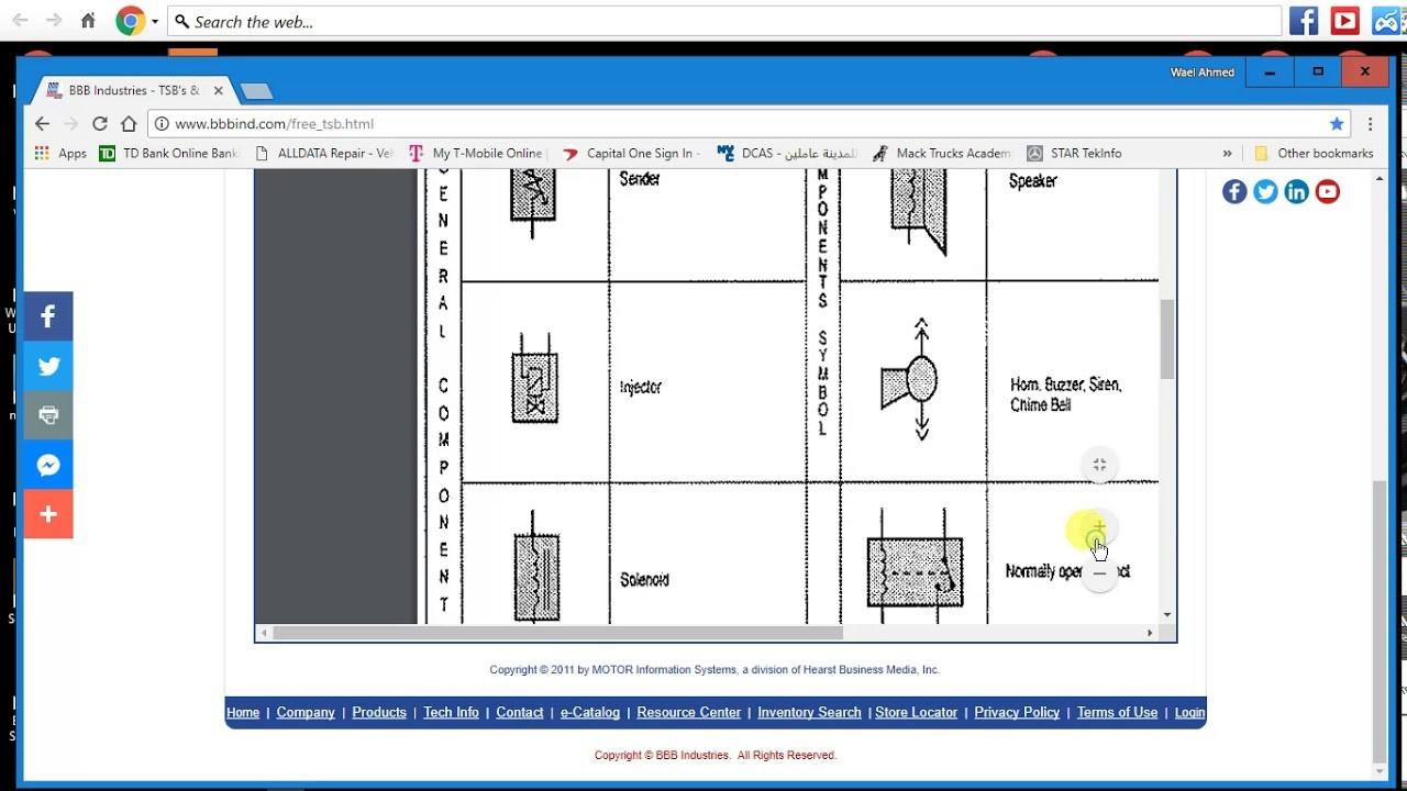 كيفيه الحصول على رموز الويرنج ديجرام مجانا FREE wiring diagram