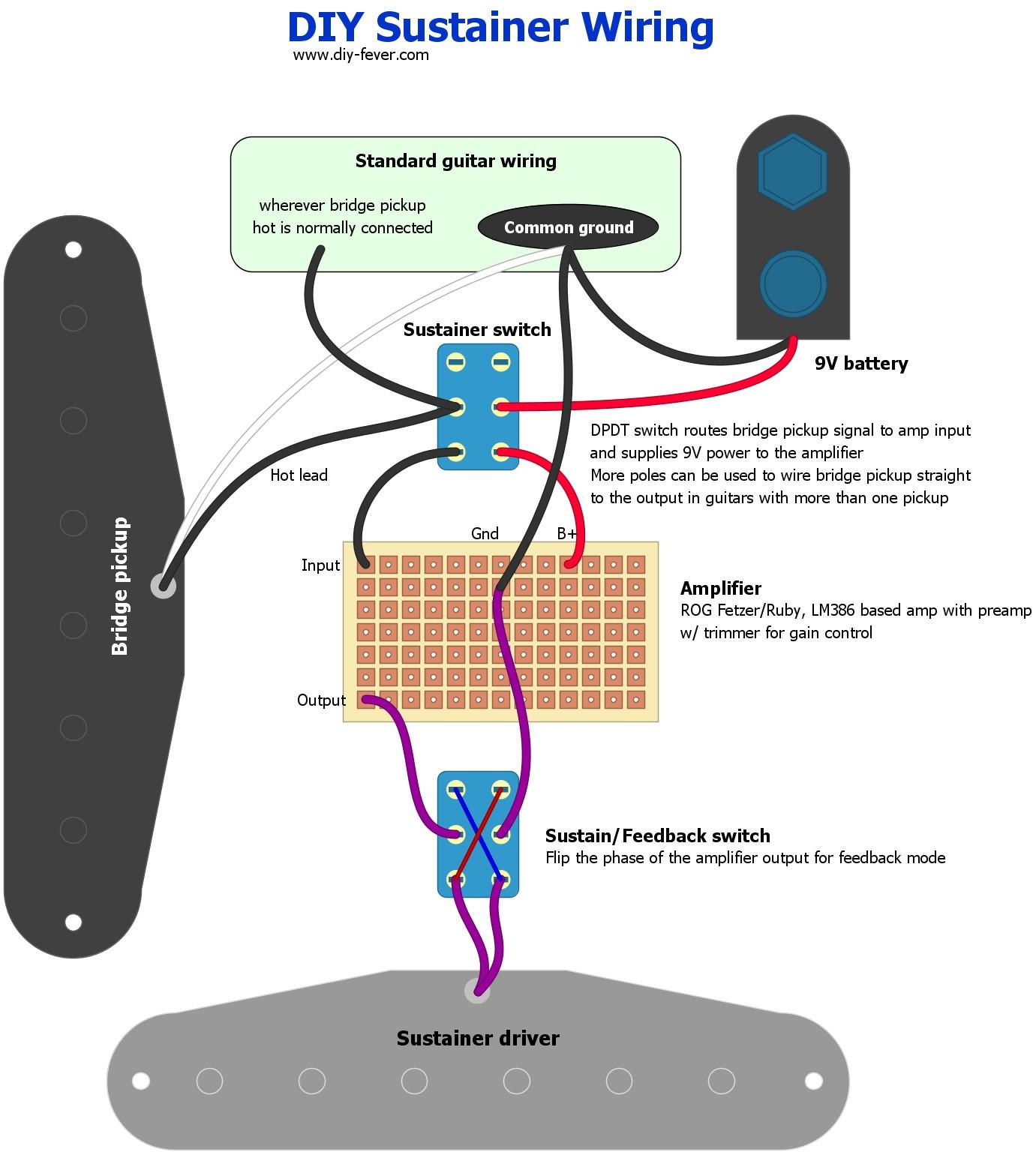 Wiring Diagram Guitar Valid Misc Diy Sustainer Diy Fever – Building My Own Guitars Amps