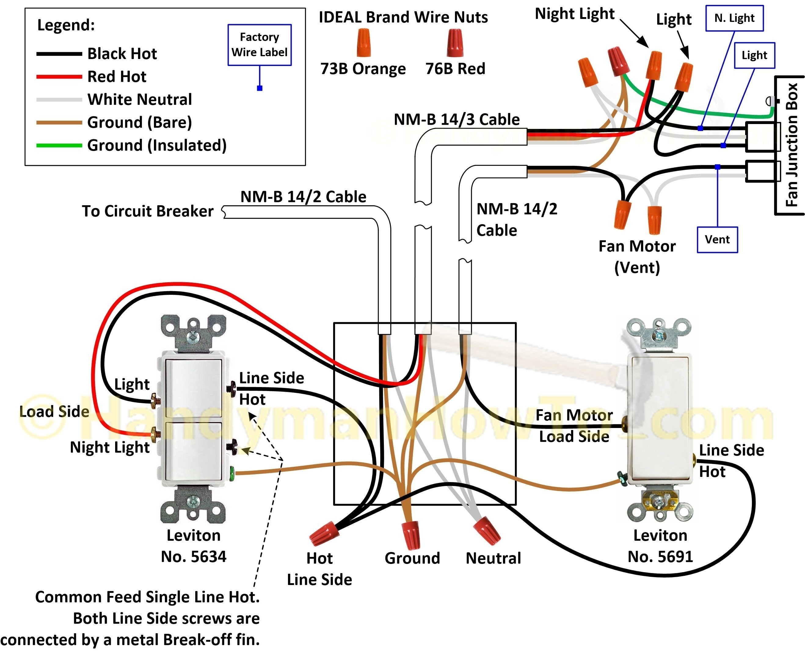 Wiring Diagram For Canarm Exhaust Fan New Bathroom Exhaust Fan With Light Wiring • Exhaust Fans Ideas