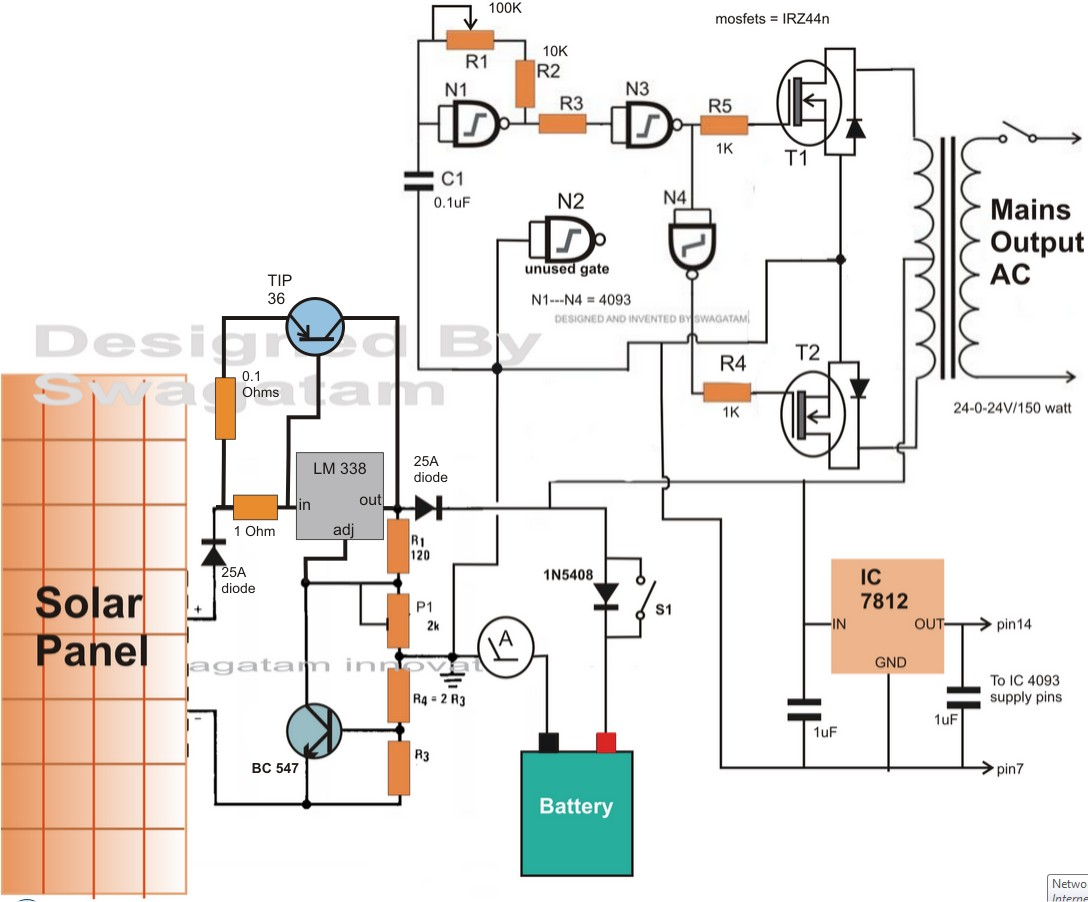 Electronic Circuit Projects How to Make a Solar Inverter Circuit