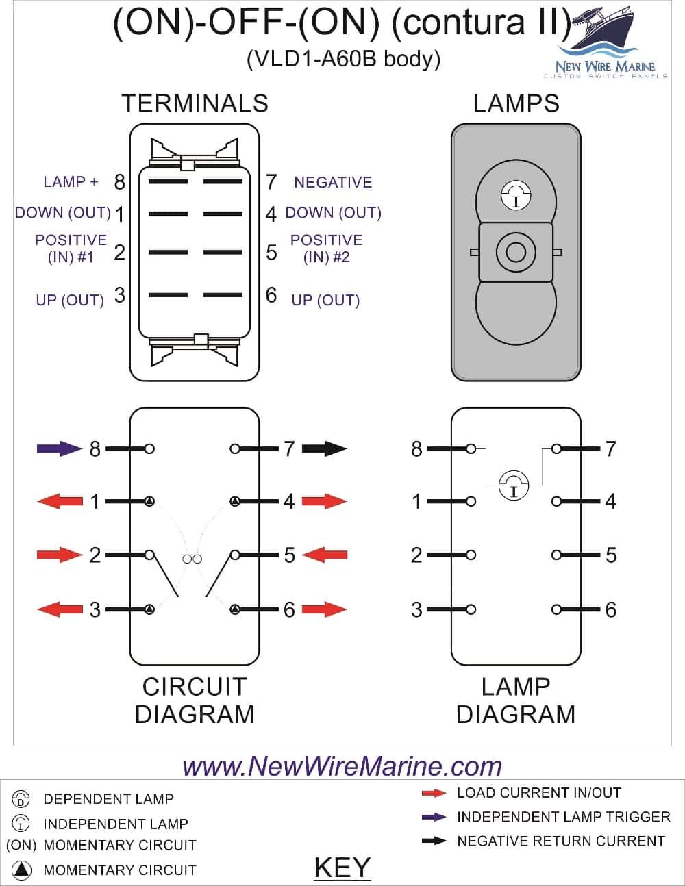 Winch Switch Wiring Diagram Illuminated Toggle In Lb Dpdt New Spst