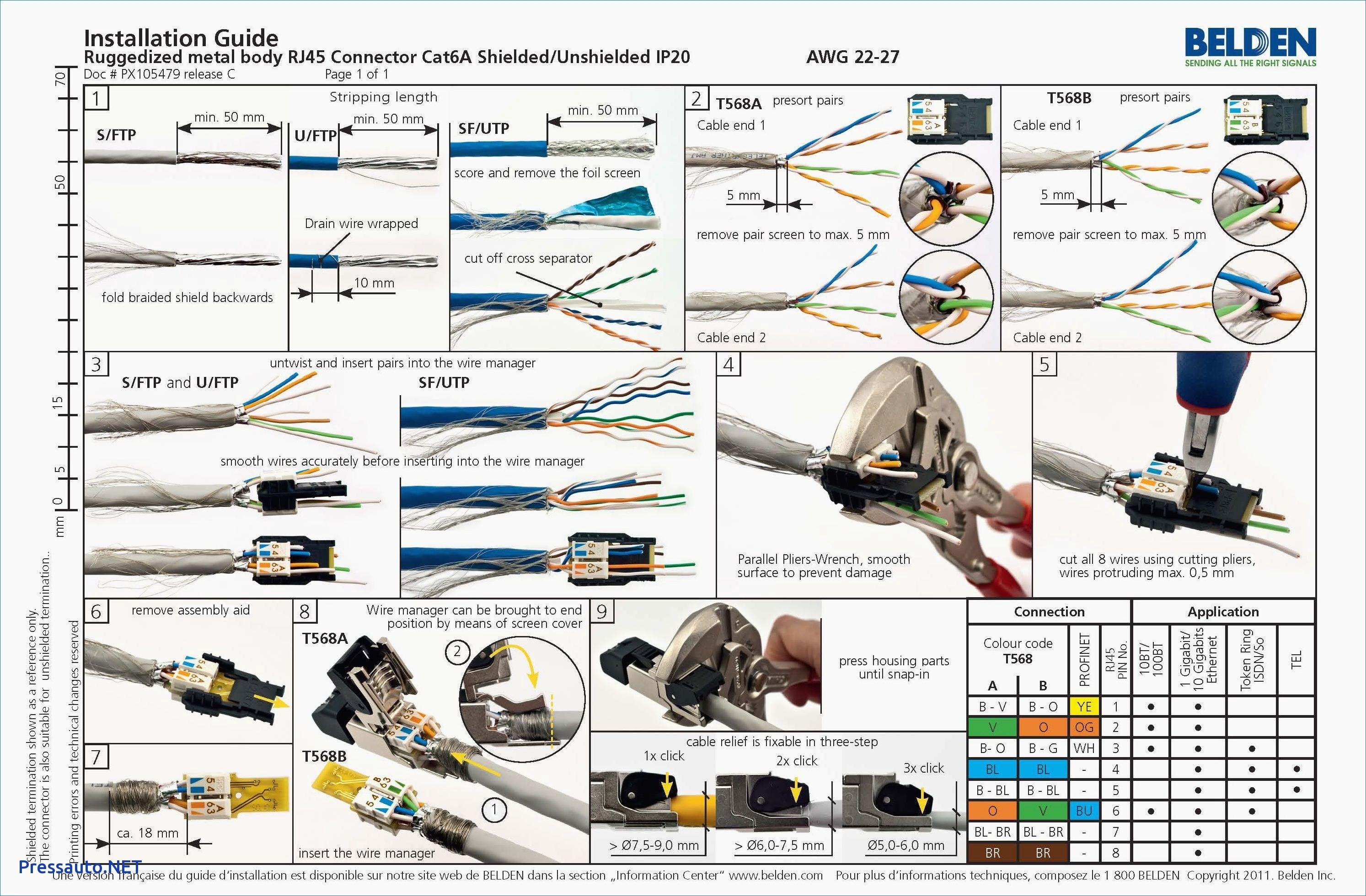 Wiring Diagram for Ethernet Cable Inspirationa Elegant Cat 6 Wiring Diagram Rj45 Diagram