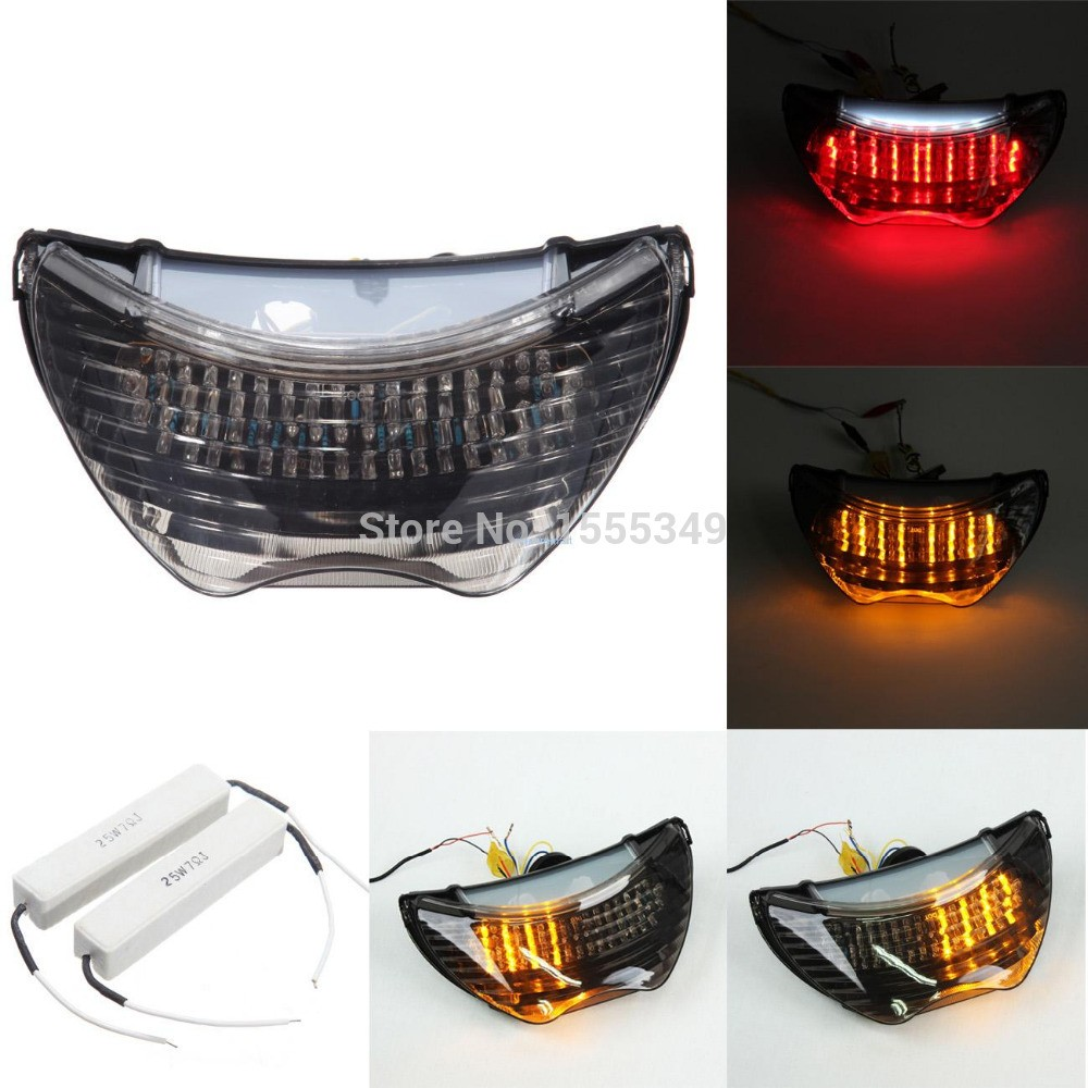 For Honda CBR 600 F4 F4i LED Motorcycle TailLights Brake Tail Lights with Integrated Turn Signals Indicators Smoke on Aliexpress