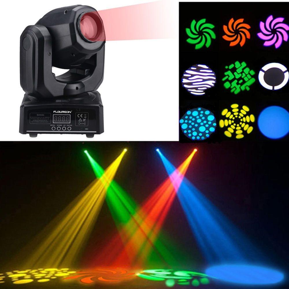 Mini RGBW LED Spot Par Moving Head Light 10CH DJ Disco Club Show Stage Lighting