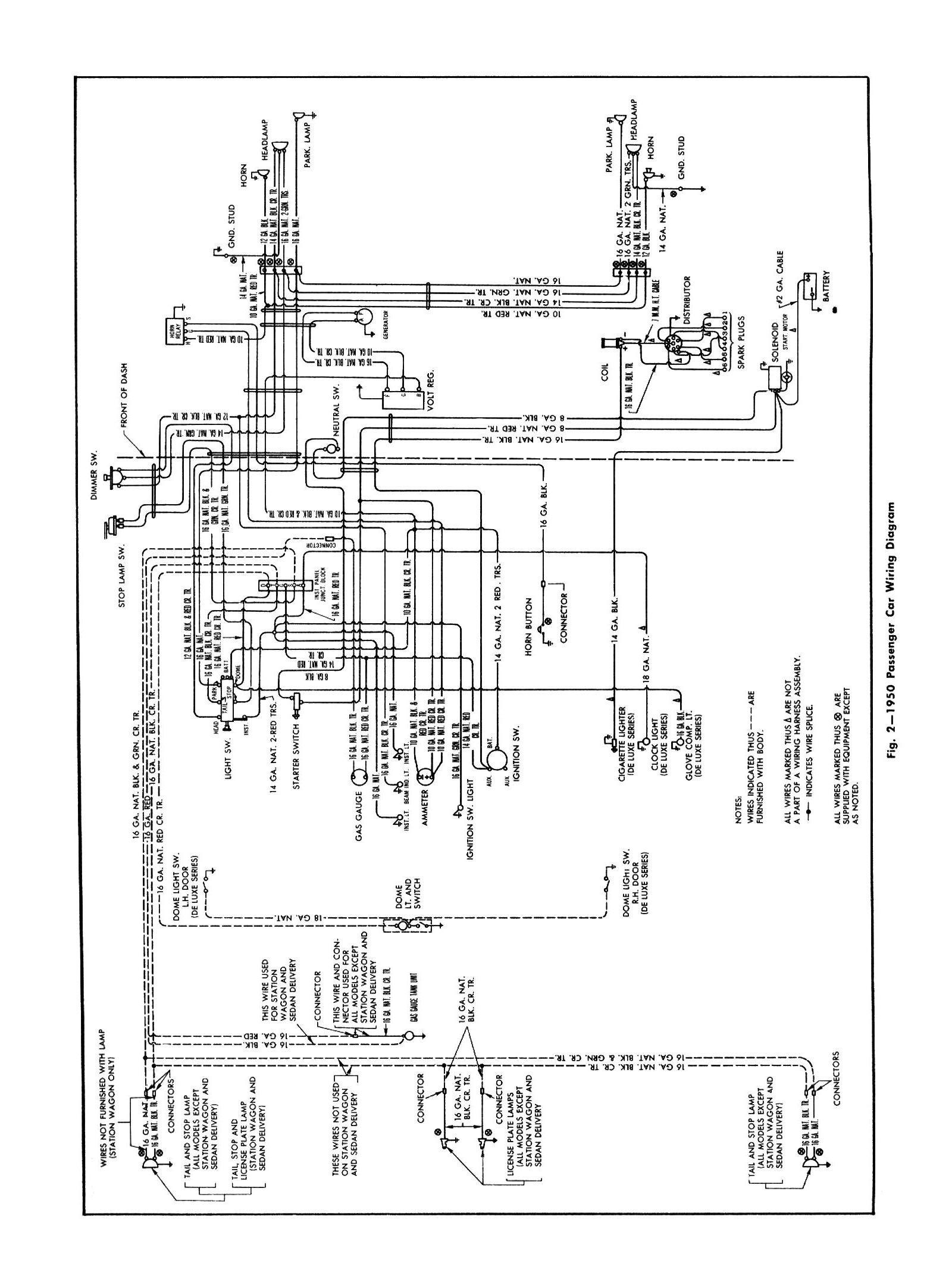 1950 Car General Wiring