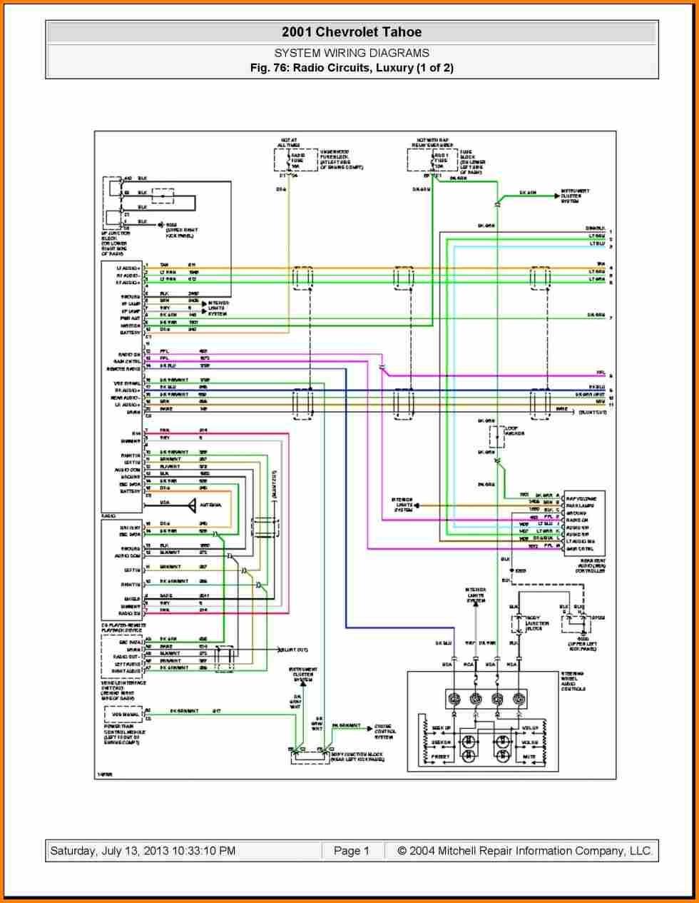2003 Chevy Silverado Wiring Diagram 2004 Chevrolet Radio Get Free Template 2005 Gmc Sierra Bose Tail Light Quality 970—1255 For Stereo