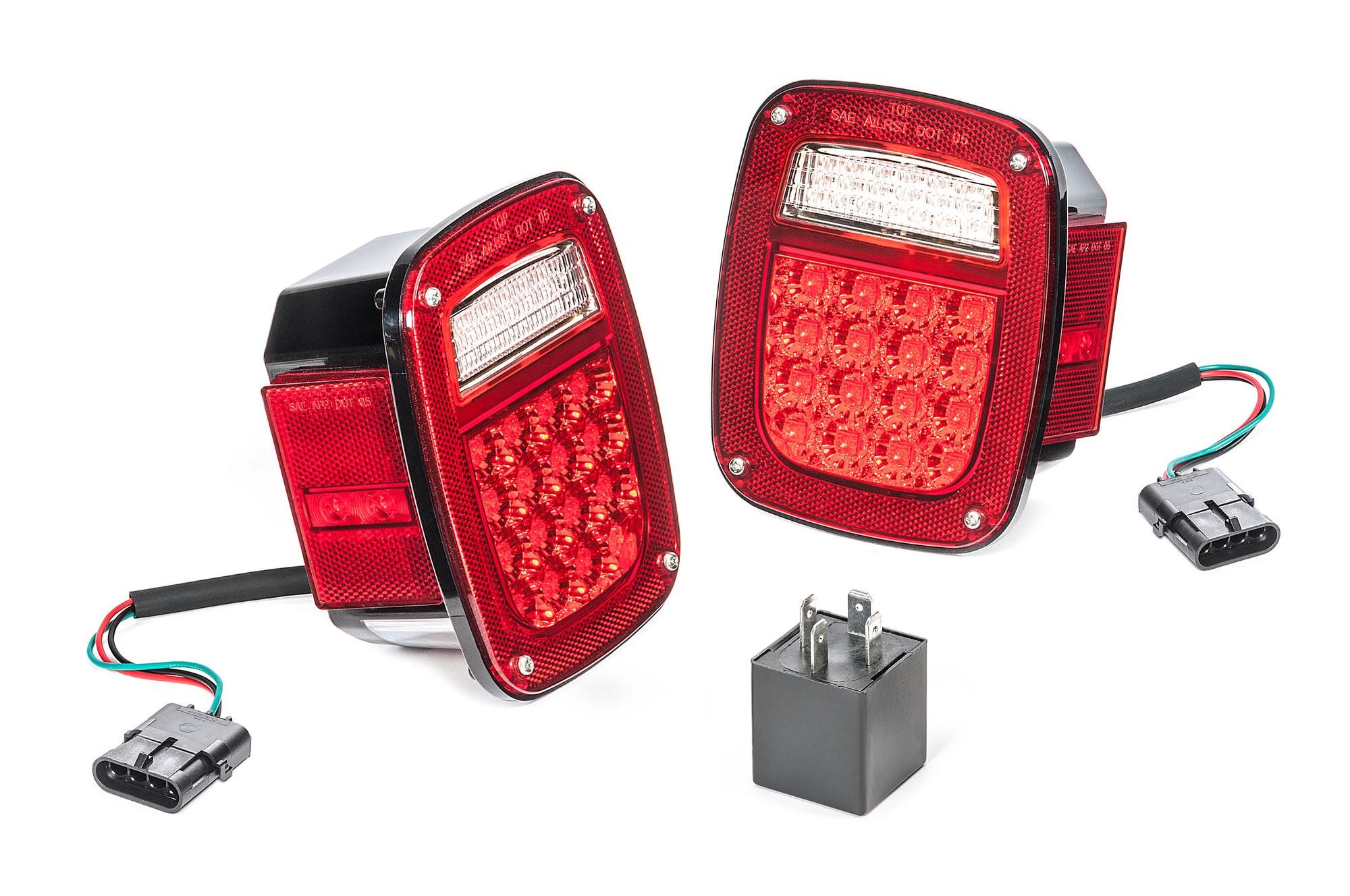 Quadratec LED Tail Light Kit 1997 Jeep Wrangler TJ 0