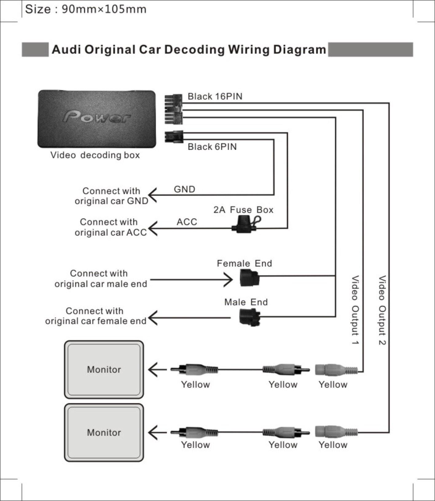 Clarion Vrx755vd Wiring Diagram Image 16 Pin New Headrest Dvd Diagrams Schematics Fresh