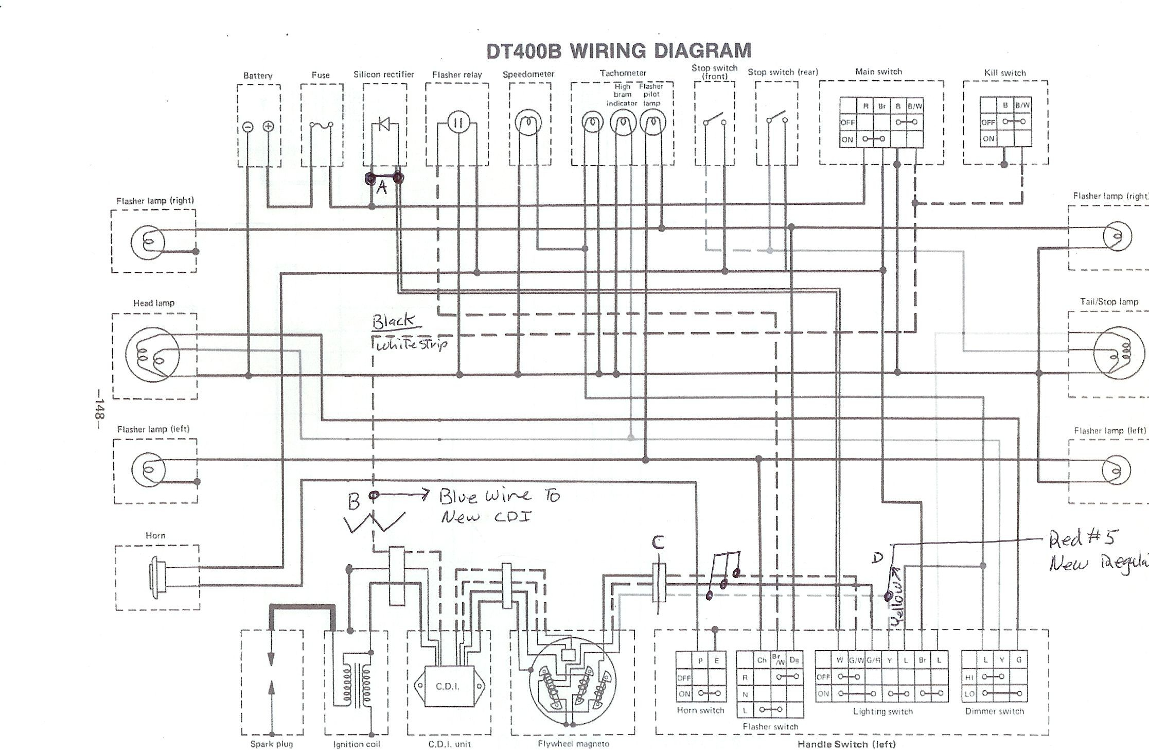 Powerdynamo For Yamaha Dt123 Rt123 Dt Ty250 Yza250 Assembly Instructions Wiring Diagram Original The