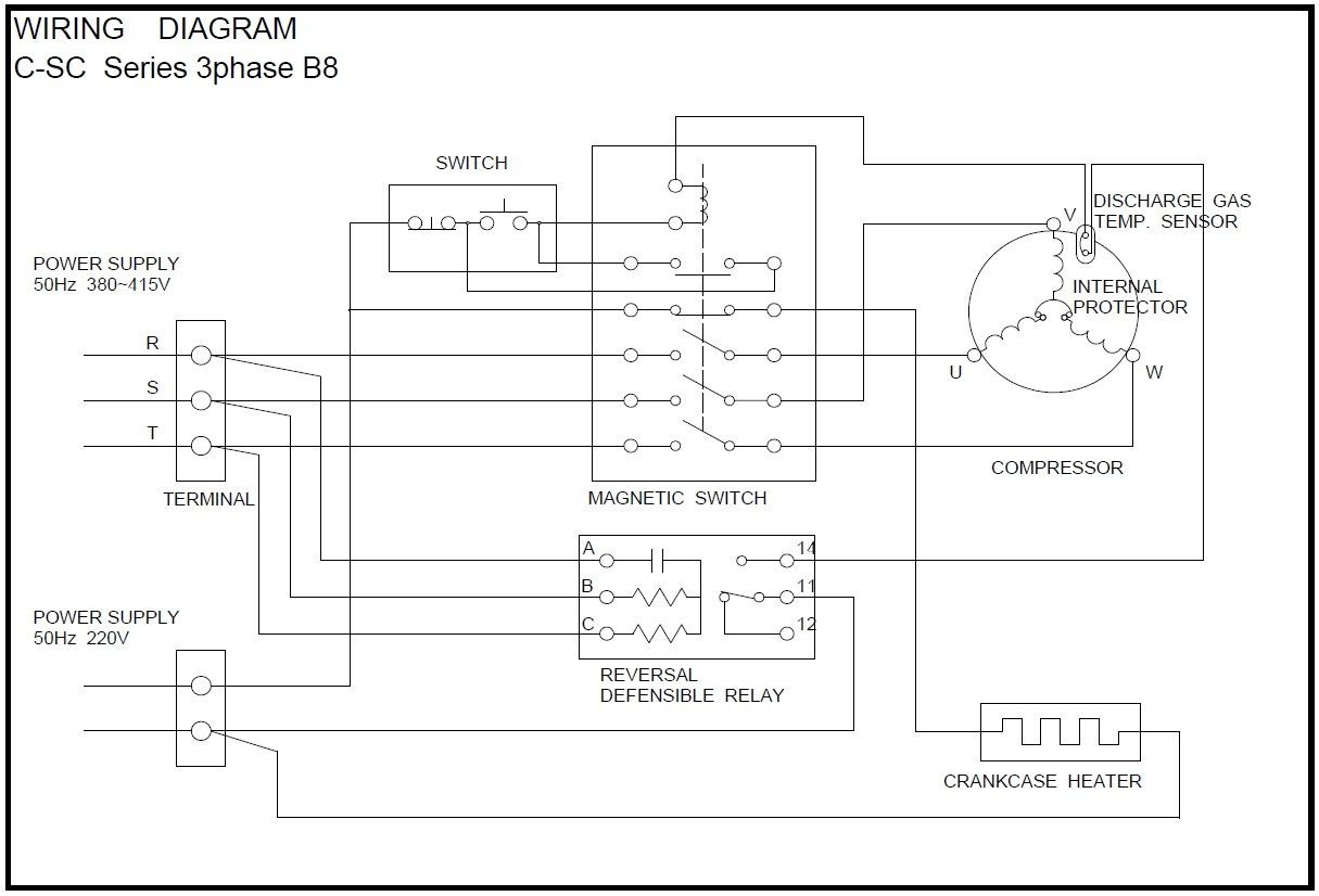 Copeland Wiring Diagrams | Wiring Diagram on compressor start capacitor wiring diagram, copeland hermetic compressor diagram, water cooled condenser diagram, air conditioner thermostat wiring diagram, water source heat pump diagram, hvac dual capacitor wiring diagram, capacitor start motor wiring diagram,