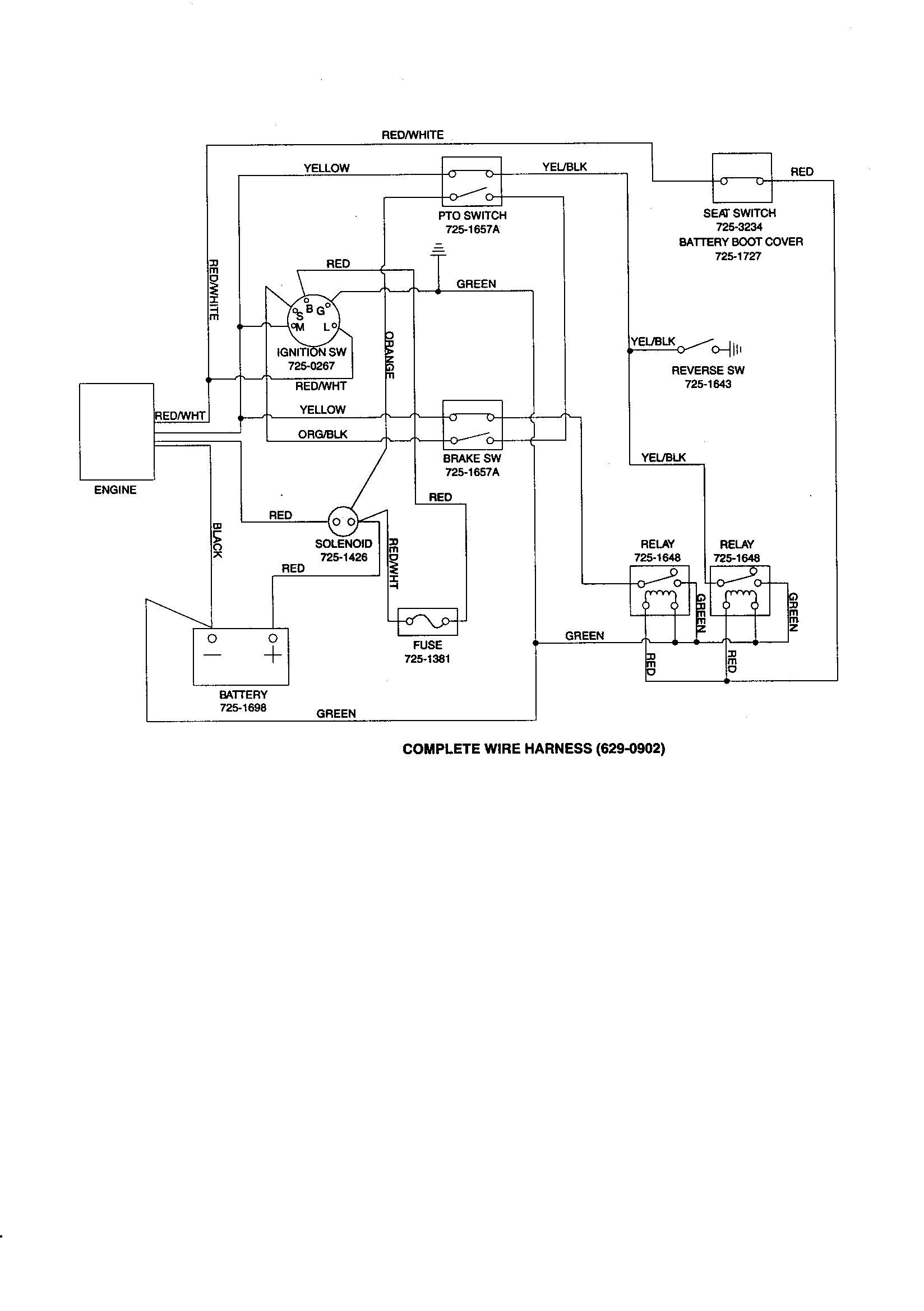 Wiring Diagram for Yardman Riding Mower Inspirationa Craftsman Riding Mower Wiring Diagram