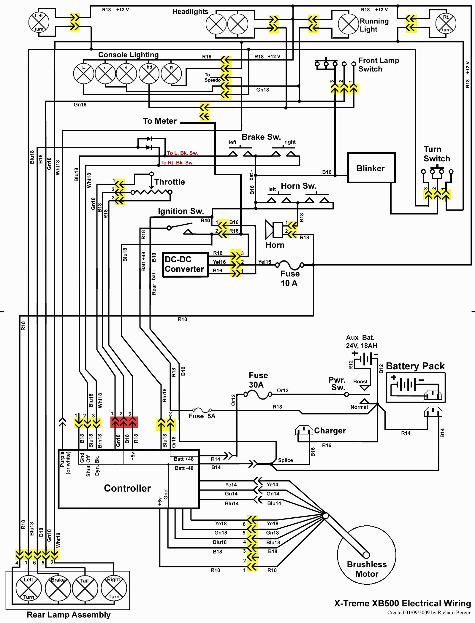 1997 Club Car Electrical Wiring Diagram Library Ds Schematic 48 Volt 2003 Dsl Model Yamaha Golf Cart 36