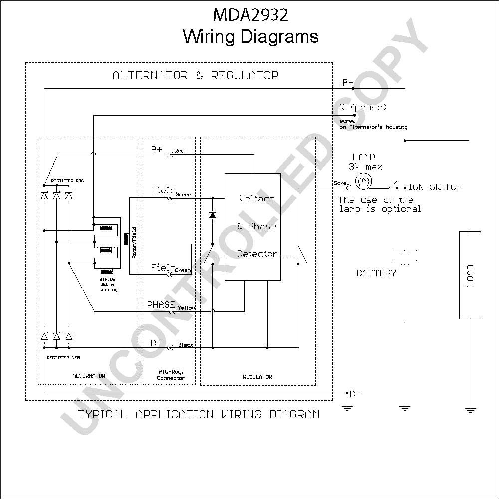 Delco Remy Alternator Wiring Diagram 4 Wire | Wiring Diagram ... on 1-wire delco alternator diagram, 10si alternator diagram, delco alternator internal diagram, delco starter wiring diagram,