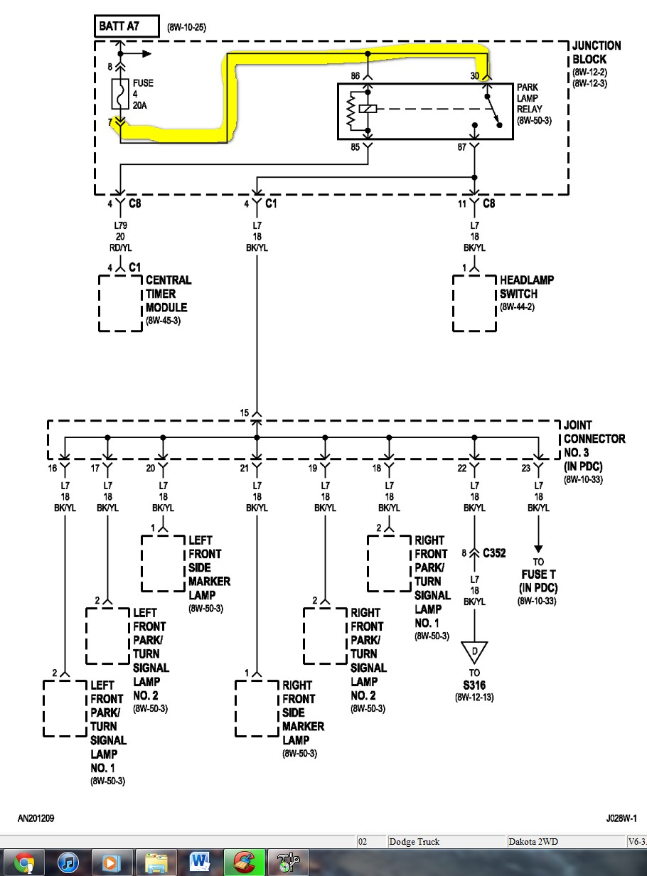 Dodge Dakota Wiring Diagram Wirdig Diagrams Dodge The Headlight Diagram  Full Size