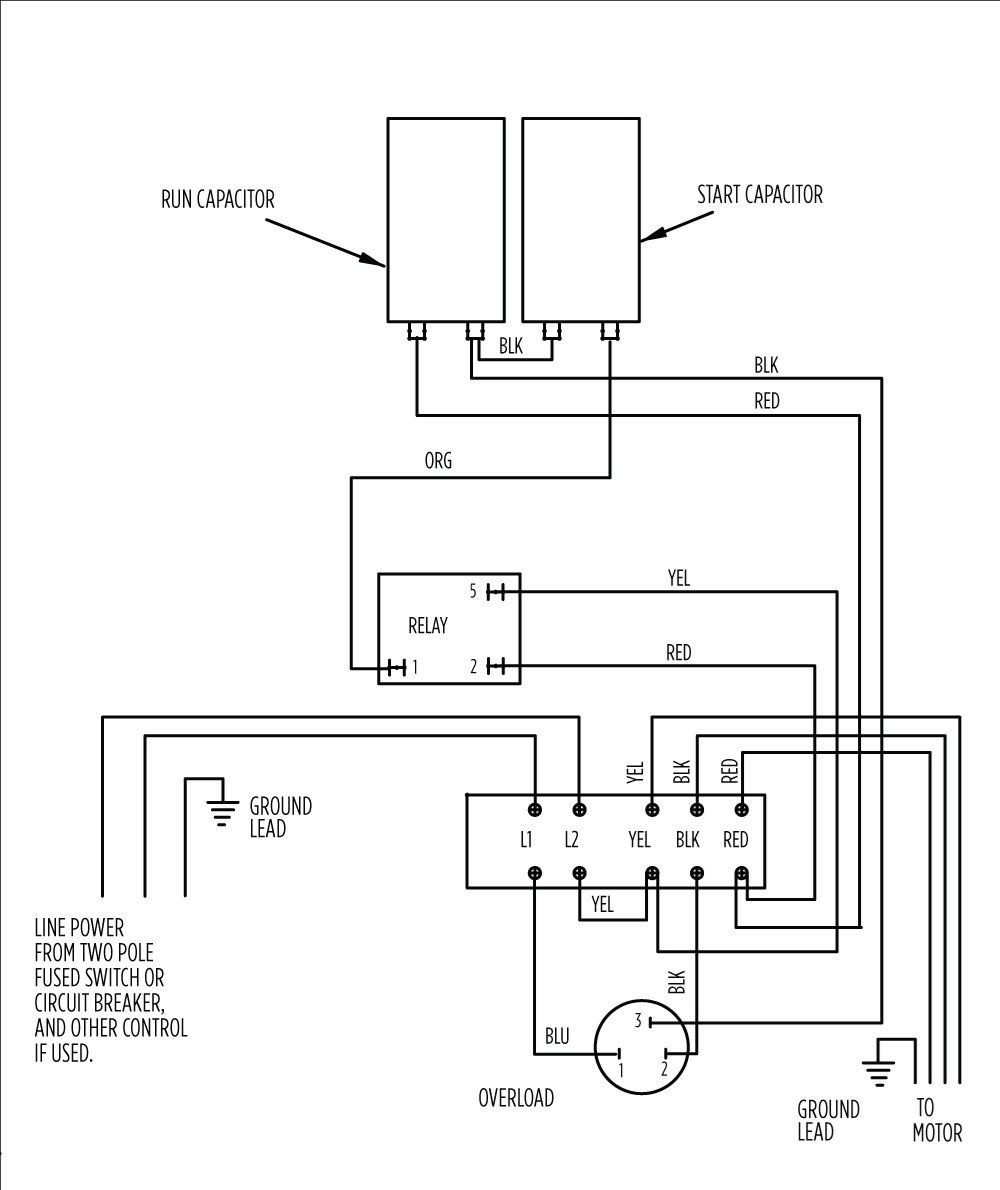 Wiring Diagram For Emerson Electric Motor from mainetreasurechest.com