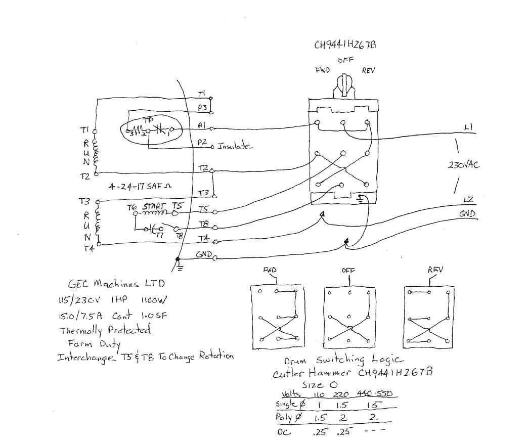 clark up a drum switch wiring diagram explained wiring diagrams rh dmdelectro co square d reversing drum switch wiring diagram Square D Pressure Switch Schematic