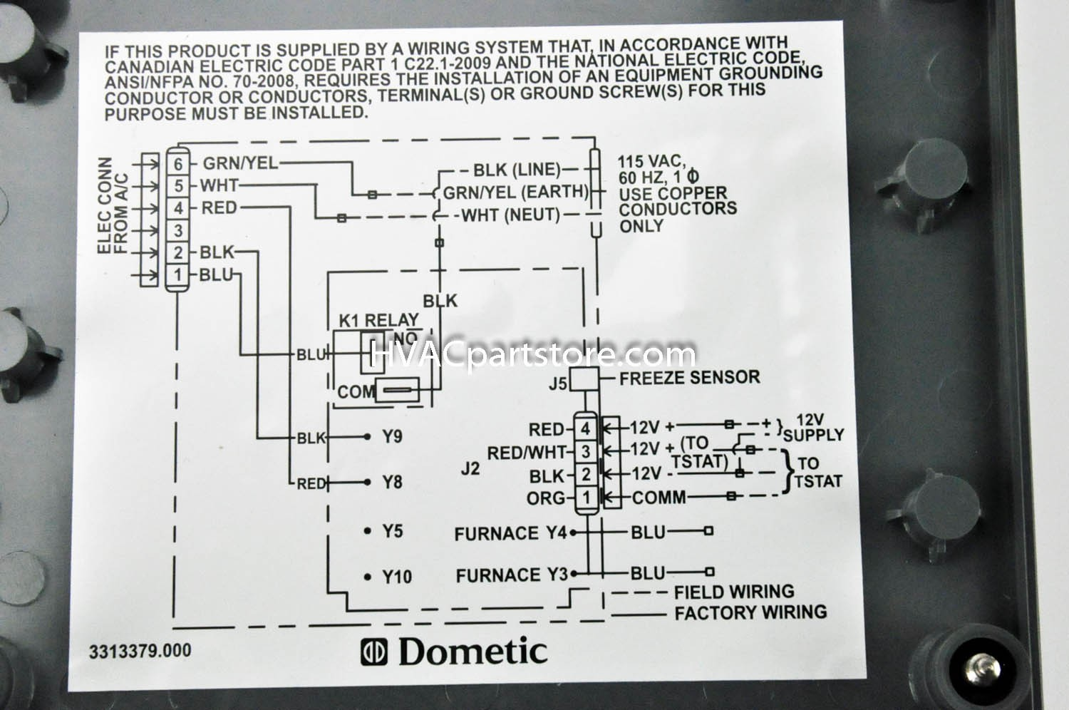 Samples Duo Therm Thermostat Wiring Diagram In Dometic Rv For