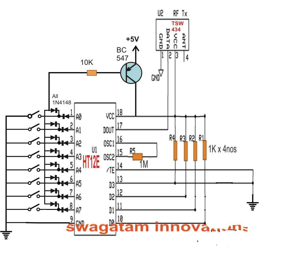 Control 8 Appliances with Single Remote Electronic Circuit Projects Projects to Try Pinterest