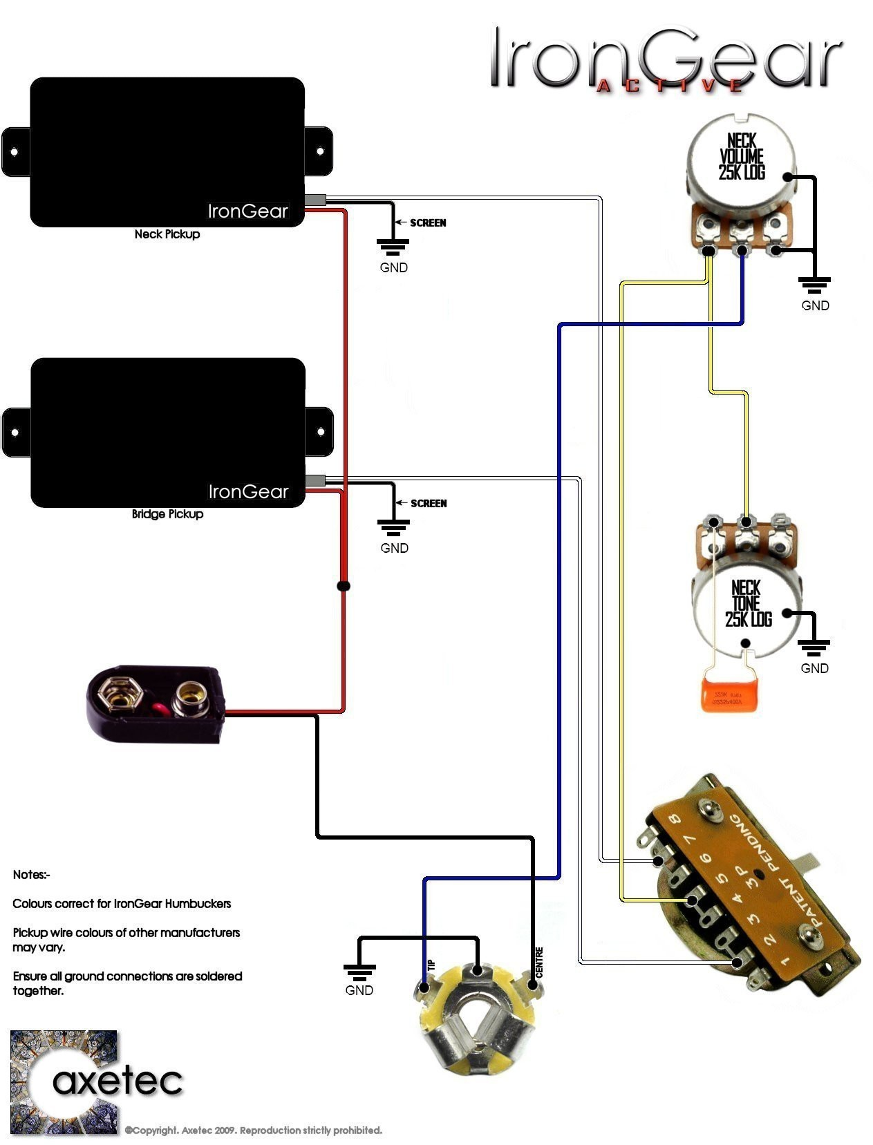 guitar wiring diagrams active emg for