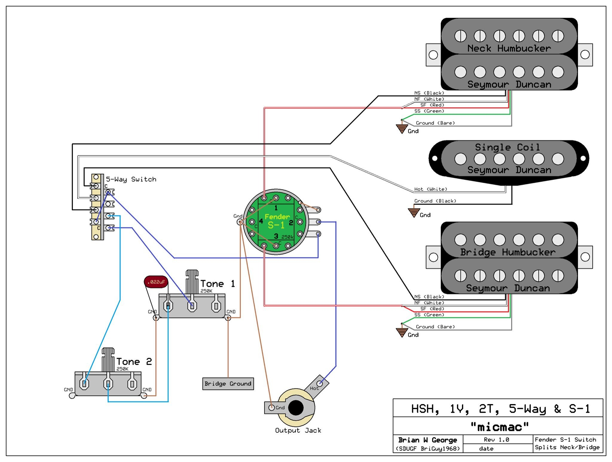 Wiring Diagram for Fender 5 Way Switch Refrence Wiring Diagram Fender 5 Way Switch Fresh Hsh