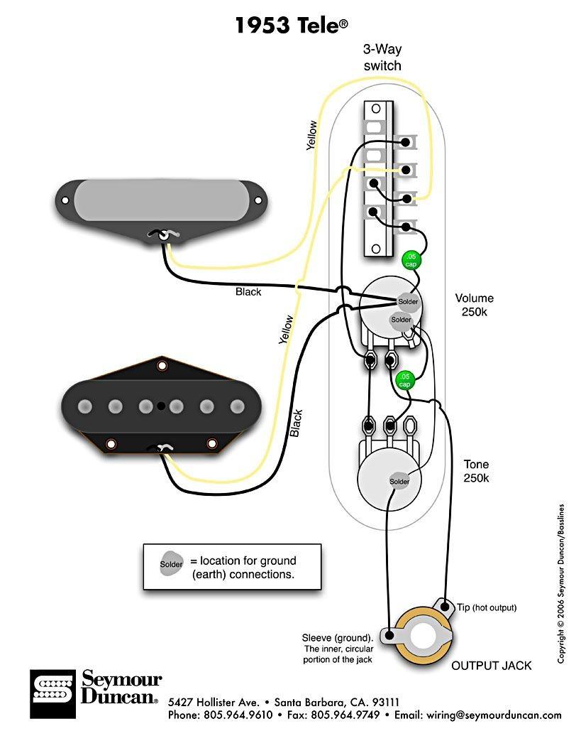 Wiring Diagram Fender Telecaster Wiring Diagram Tele Seymour