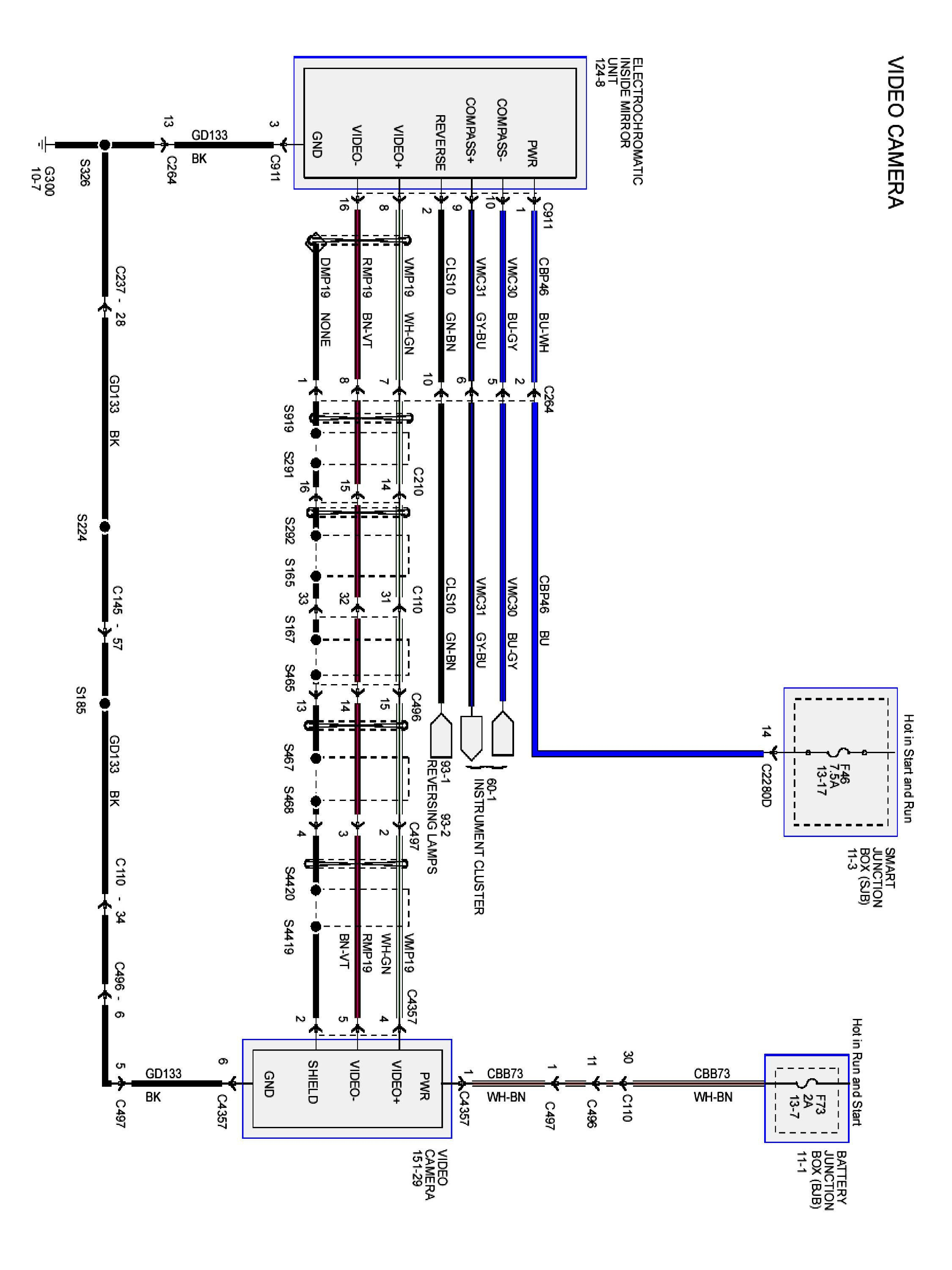 Wiring Diagram for Rear View Camera Save Backup Camera Diagram Fresh 6 Voyager Backup Camera Wiring