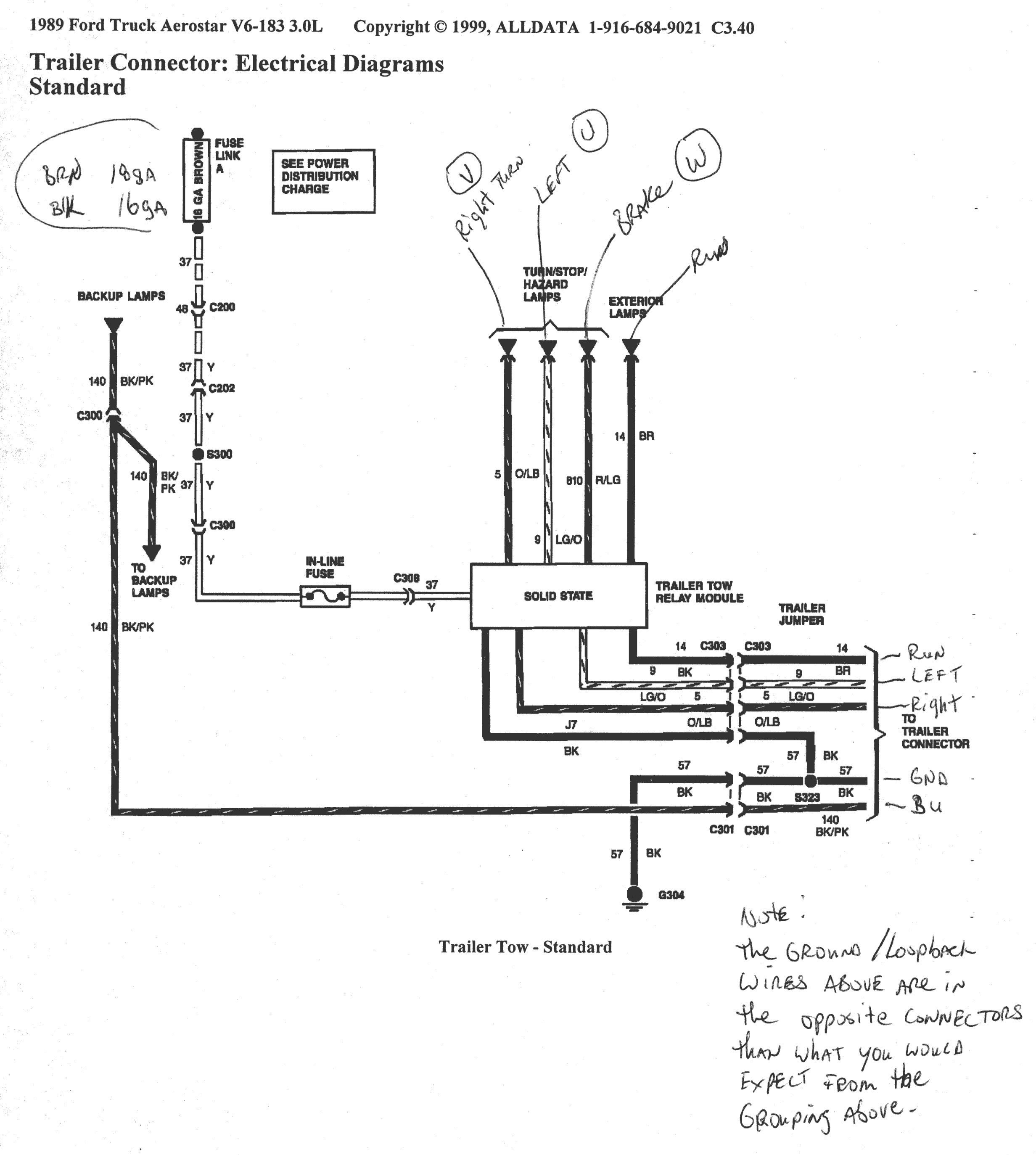 7 Pin Trailer Connector Plug Wiring Utility With Ford F250 Diagram 6
