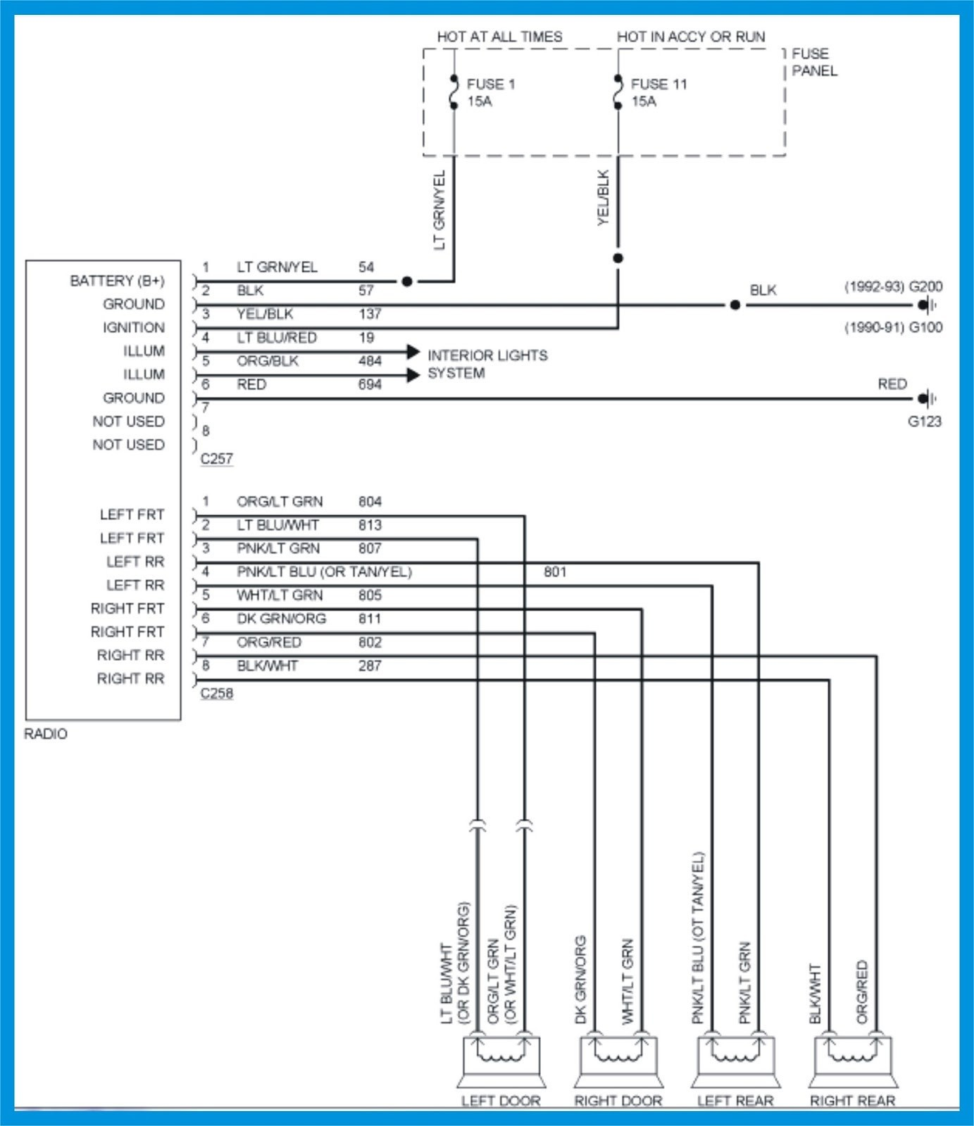 15 Ford F150 Radio Wiring Diagram 2001 E350 In 2004 F250 With Outstanding Explorer