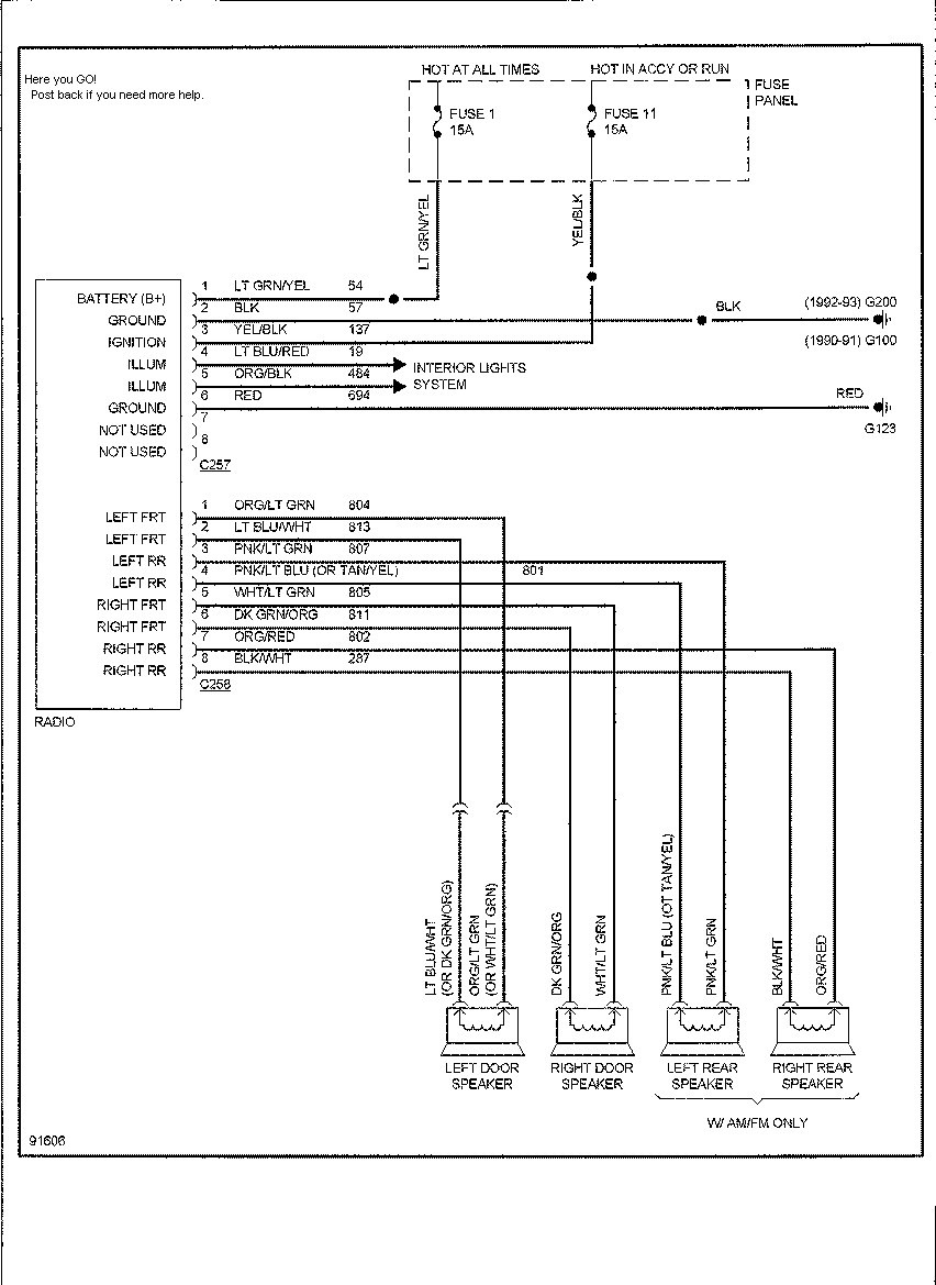 radio wiring harness diagram moreover 1990 ford ranger wiring rh recored co  1990 ford ranger stereo wiring diagram