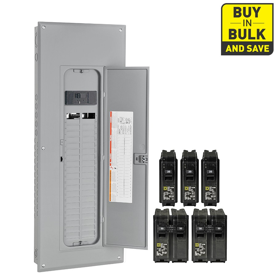Square D Homeline 80 Circuit 40 Space 200 Amp Main Breaker Plug