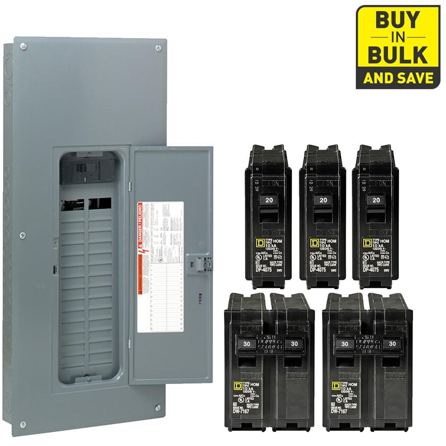 Square D Homeline 60 Circuit 30 Space 200 Amp Main Breaker Plug