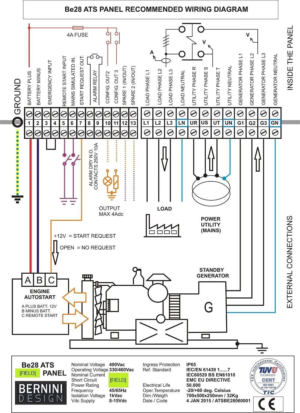 Generac Automatic Transfer Switch Wiring Diagram Inside