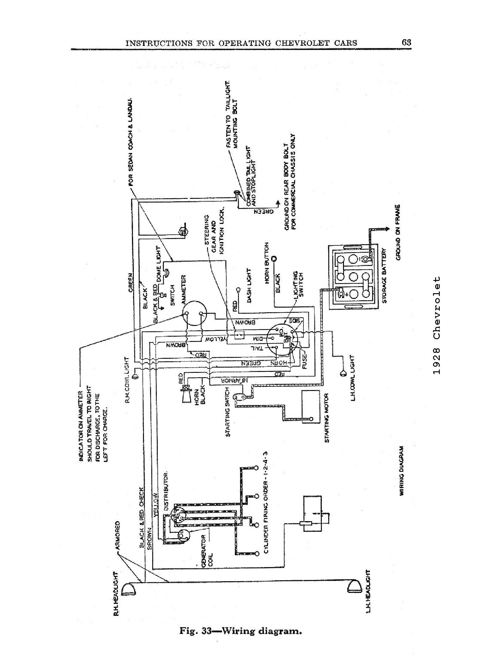 General Motors Wiring Diagram Image Diagrams 1928
