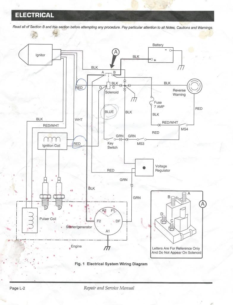 ezgo gas golf cart engine starter wiring diagram