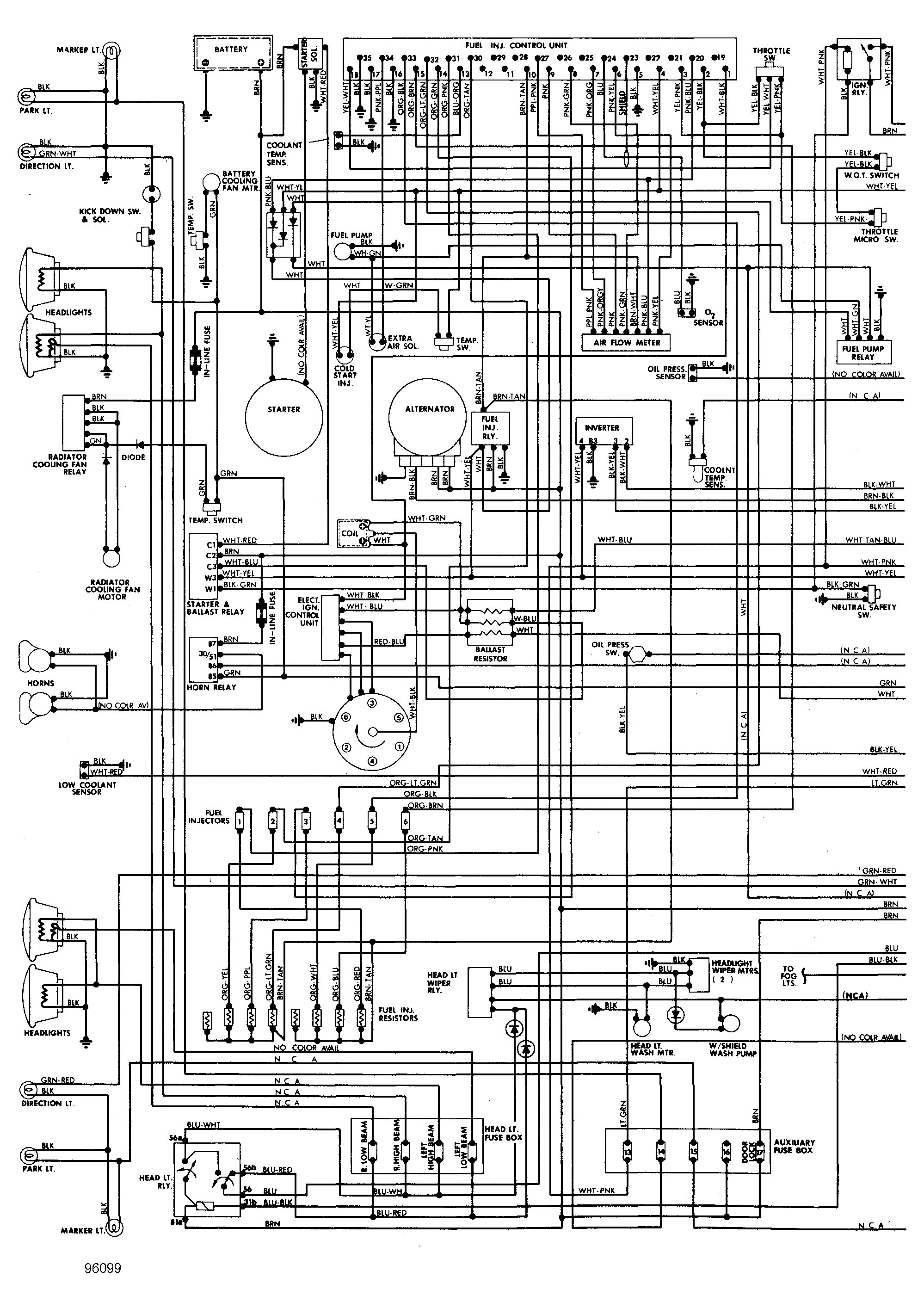 1998 Mercury Grand Marqui Wiring Diagram