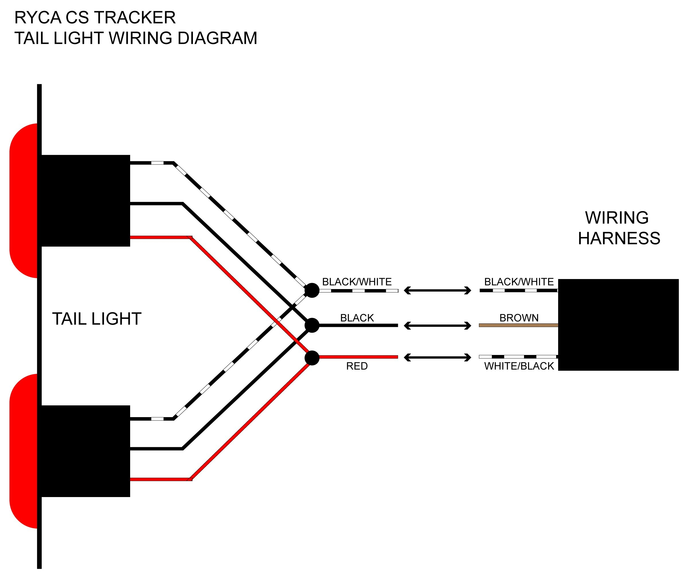 4 Way Wiring Diagram For Tail Light