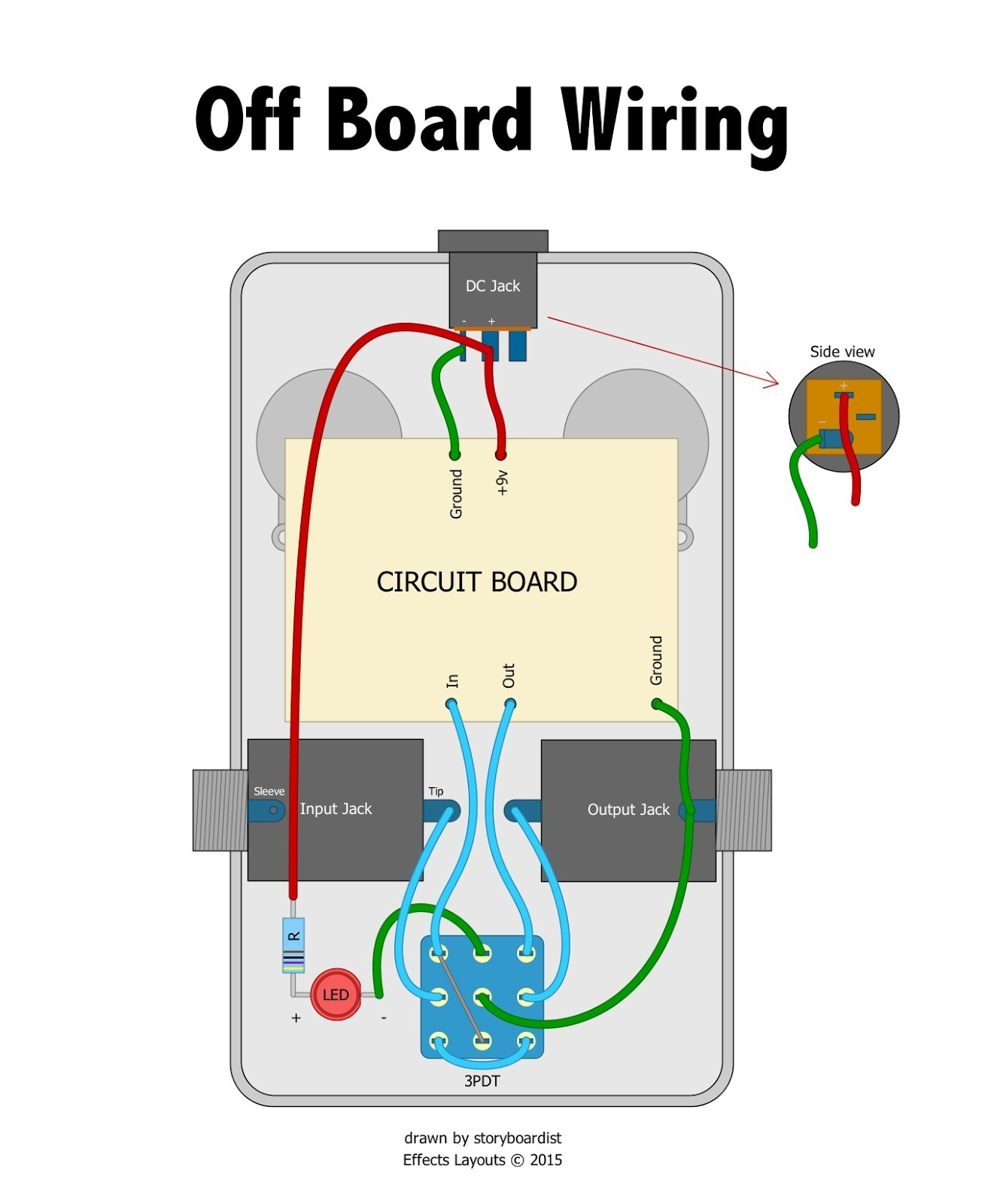 Wiring Diagram Guitar Jack New Wiring Diagram Guitar Pedal Valid Perf and Pcb Effects Layouts
