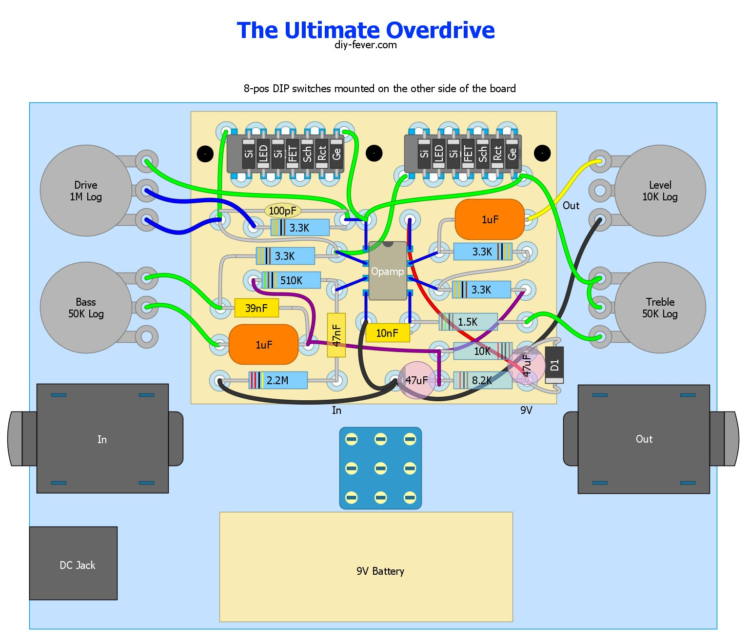 1 4 Input Jack Wiring Diagram Library Quot Trs Long Guitar Refrence Image Result For Germanium Od Overdrive Electronics