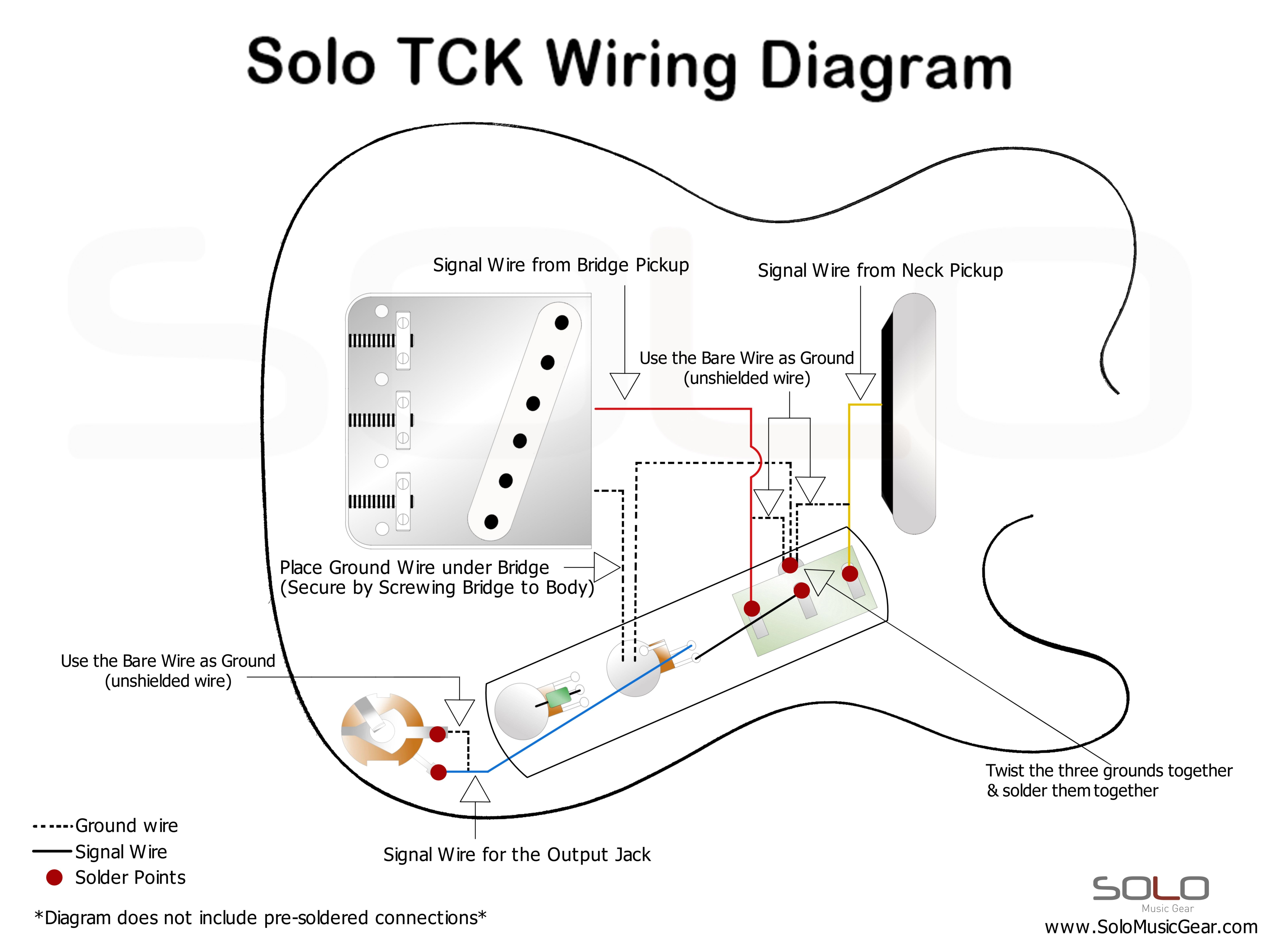 guitar barrel jack wiring diagram