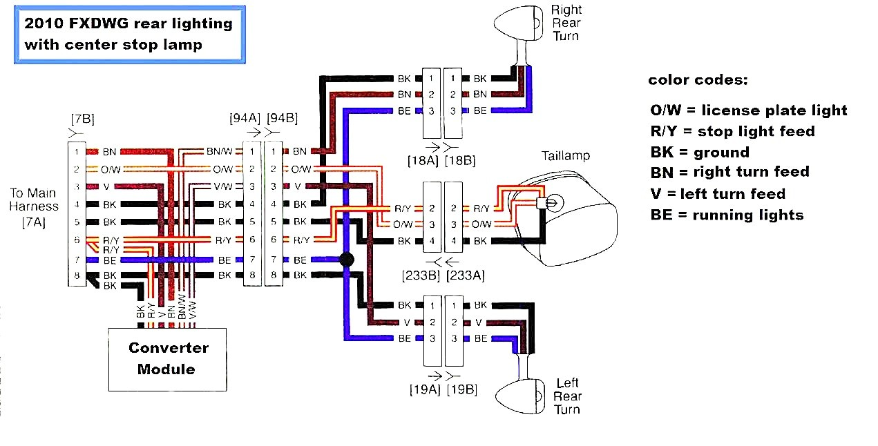 Harley Davidson Wiring Diagram Gorgeous Reference Dyna Models Links Part Page Brilliant