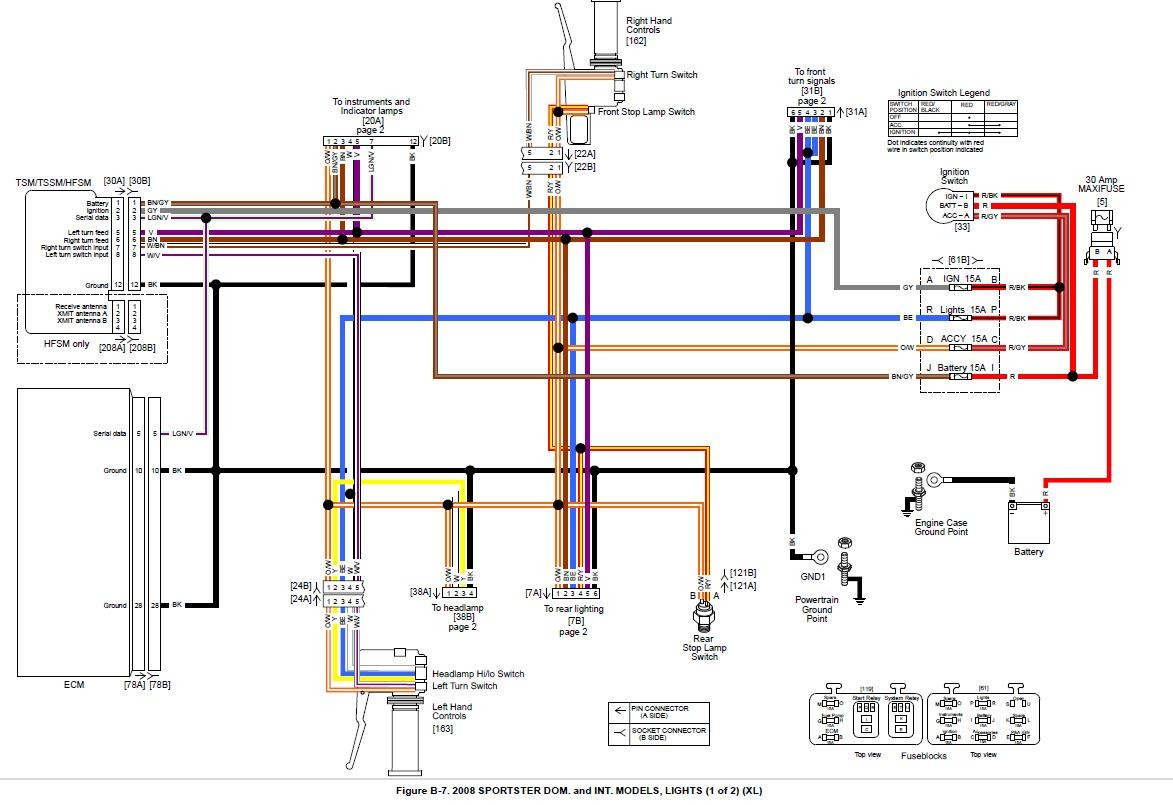 Xl1200 Wiring Diagramwiring Diagram Database Harley Davidson Diagrams And Schematics Readingrat Net Sportster Harness