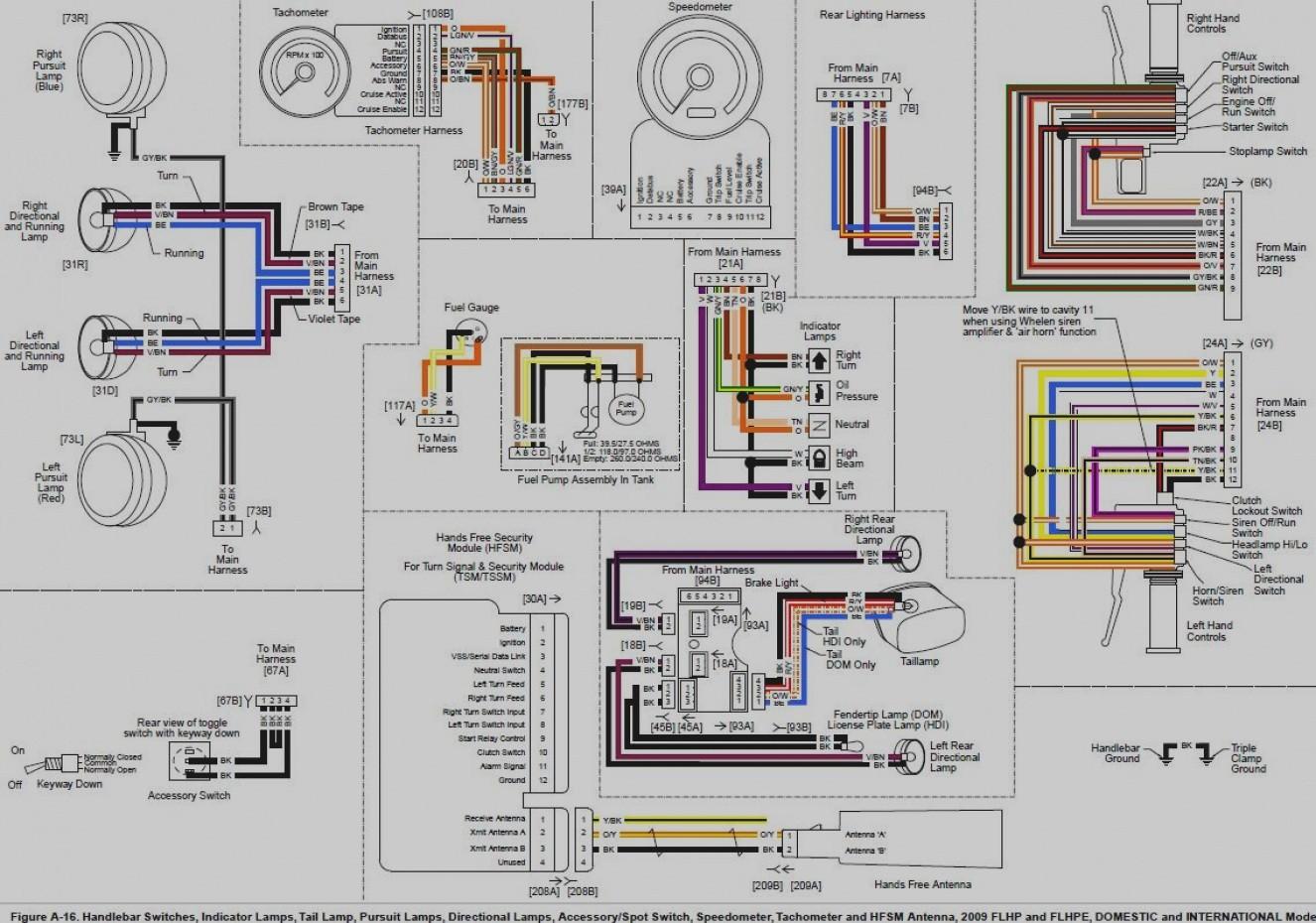 WRG-4699] Harley Wiring Harness Diagram Blinkers on