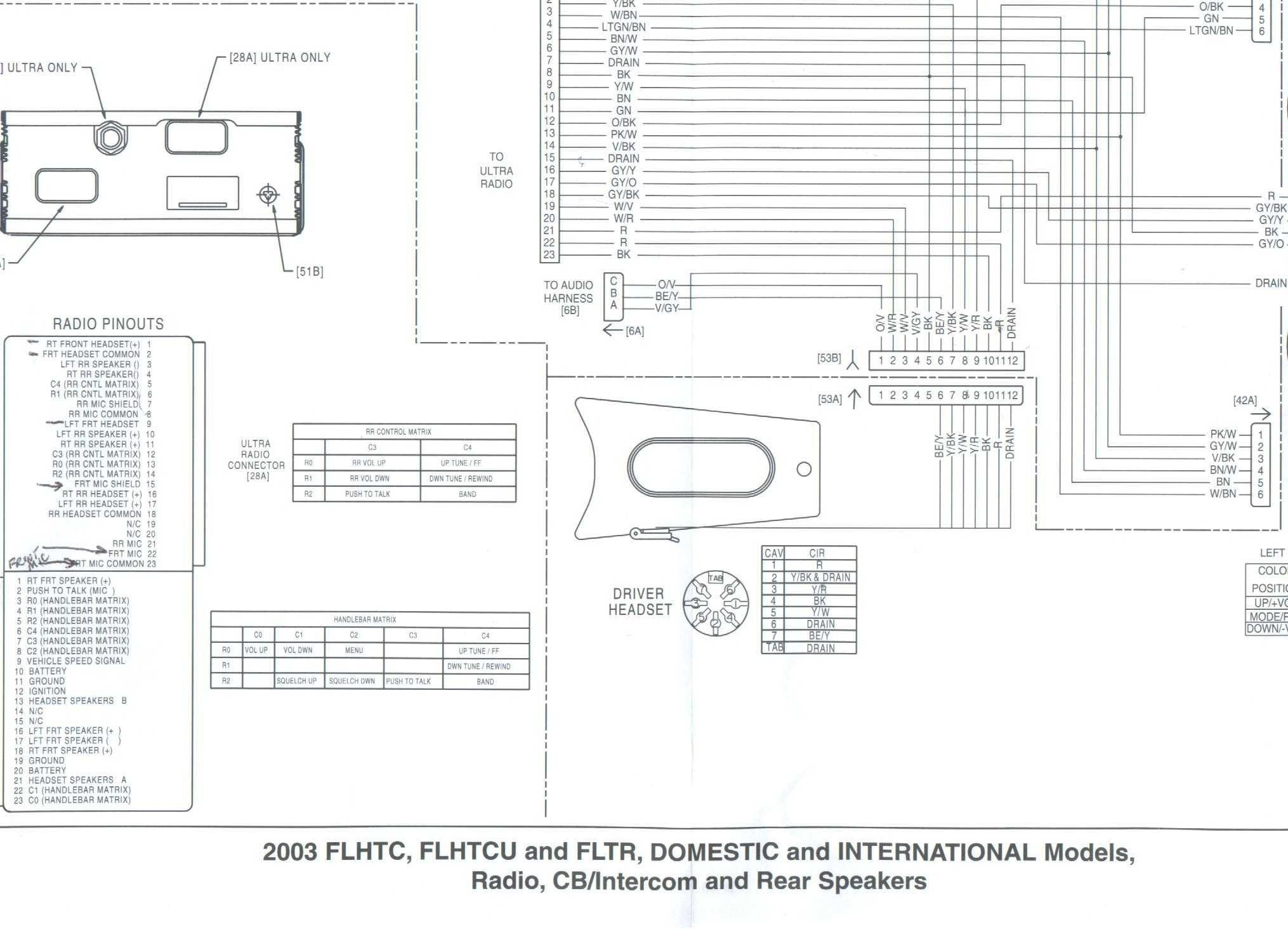 Radio Wire Diagram Inspirational Cb Radio Wiring Diagram Gm Colors Harley Davidson Sportster Wiring Diagram