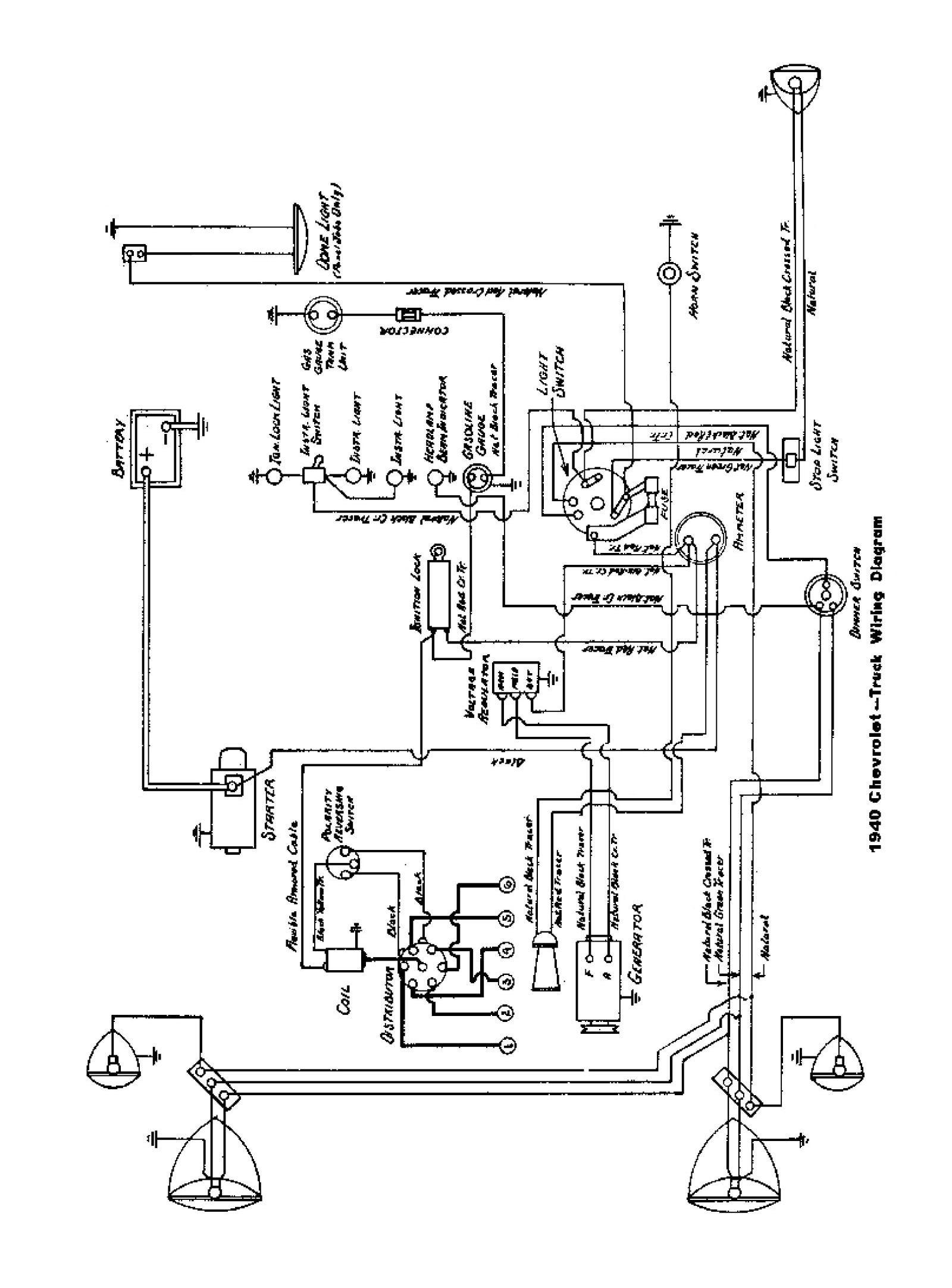 1940 Truck Wiring